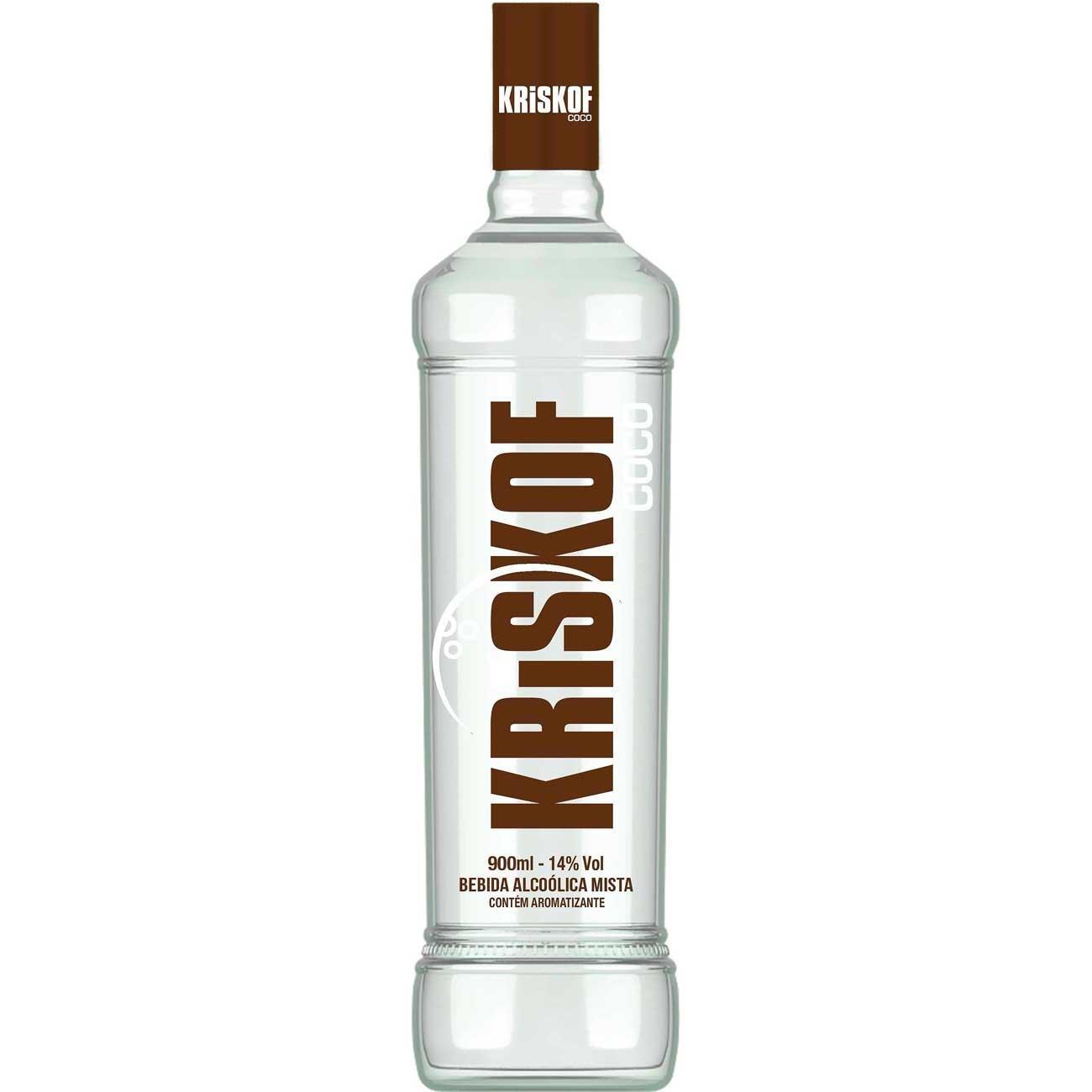 Vodka Kriskof Coco 900ml | Caixa com 6 unidades