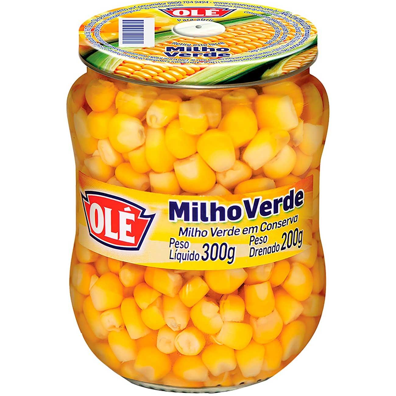 Milho Verde Ol� Vidro 200g | Caixa com 12 unidades