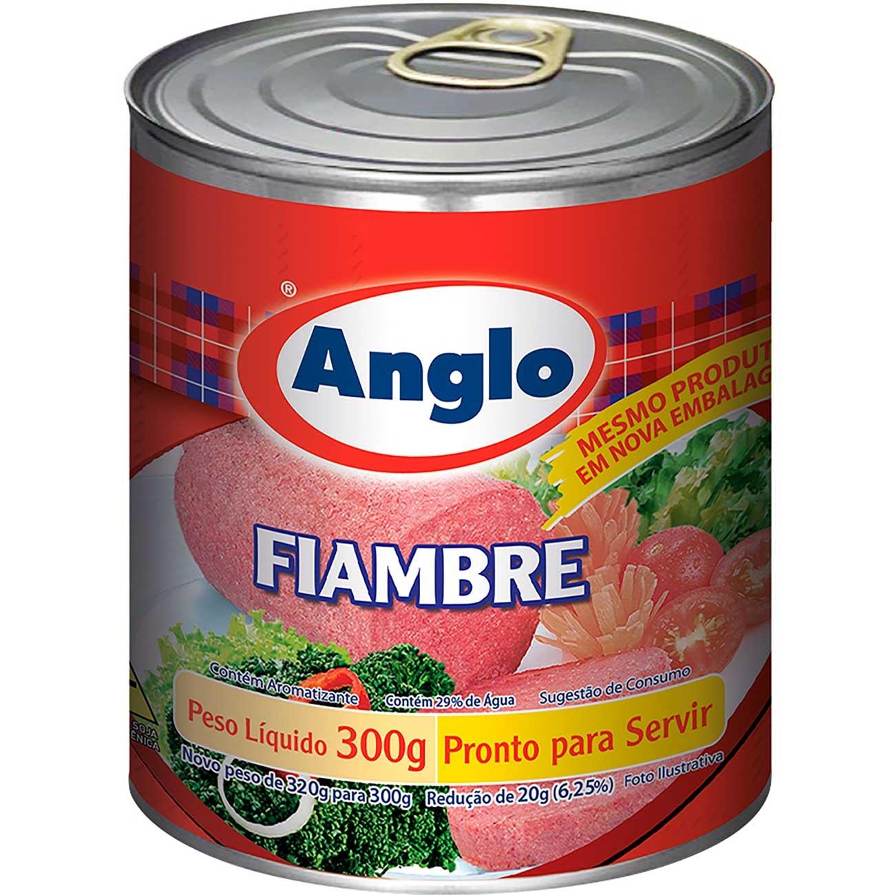 Fiambre Anglo Pic Nic Lata 300g | Caixa com 24 unidades