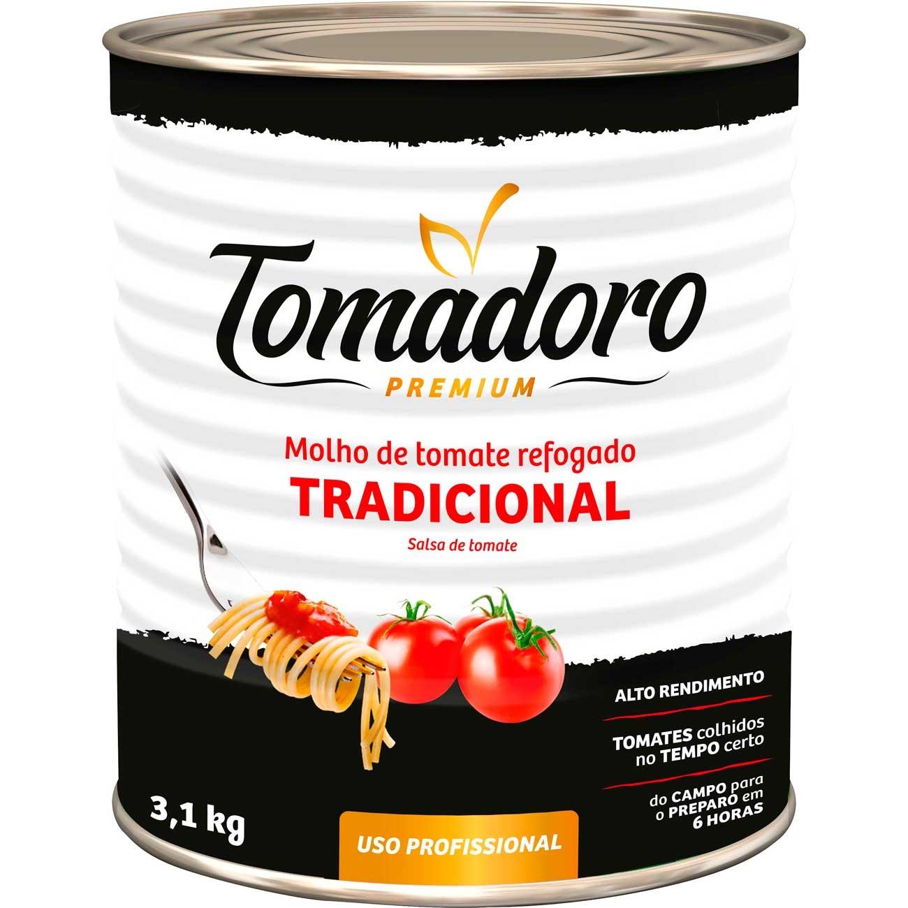 Molho De Tomate Tomadoro Premium Tradicional Lata 3.1kg