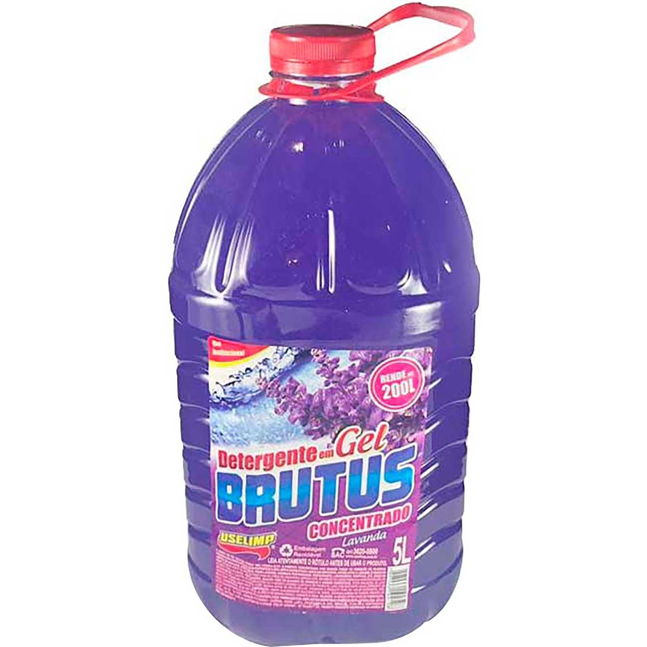 Detergente Concentrado Brutus Em Gel Lavanda 5L