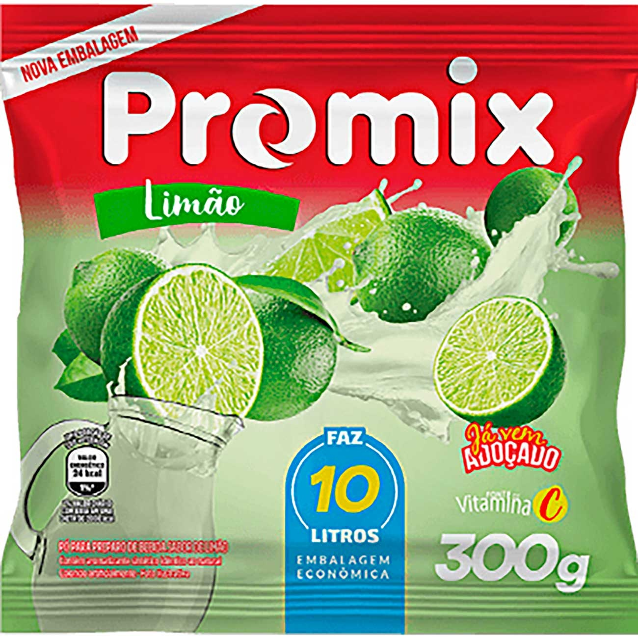 Refresco Em P� Promix 300g Lim�o Faz 10L