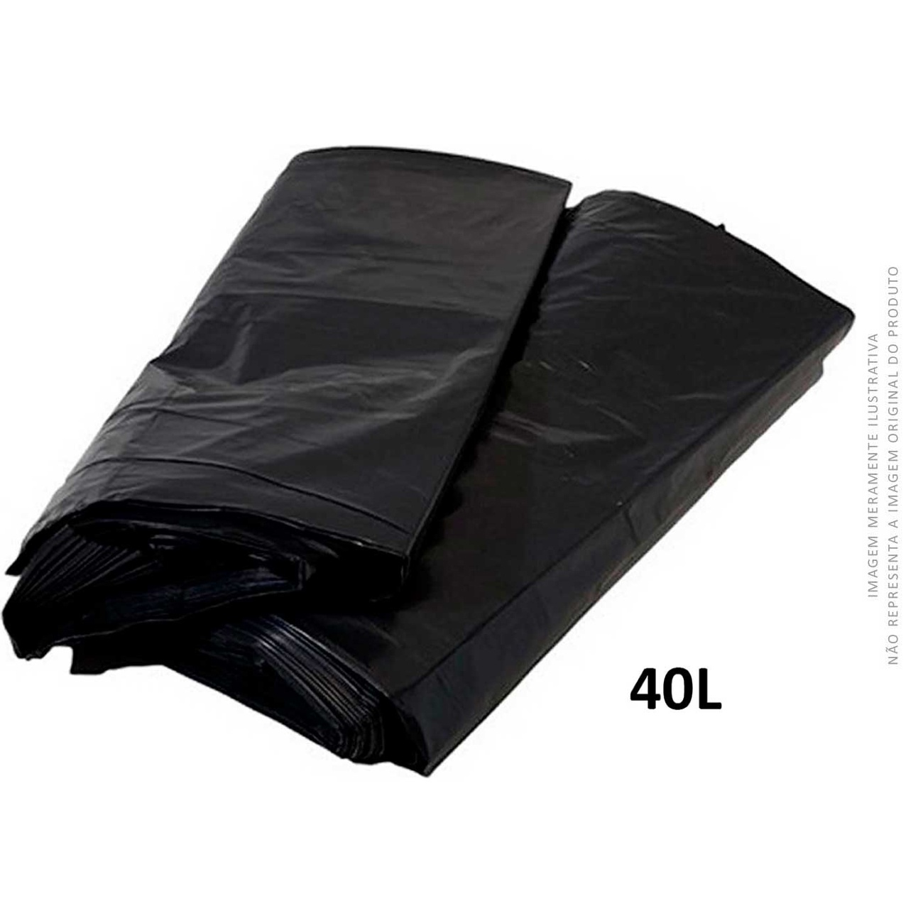 Saco De Lixo Preto MuLlixo 40L    Caixa com 15 unidades
