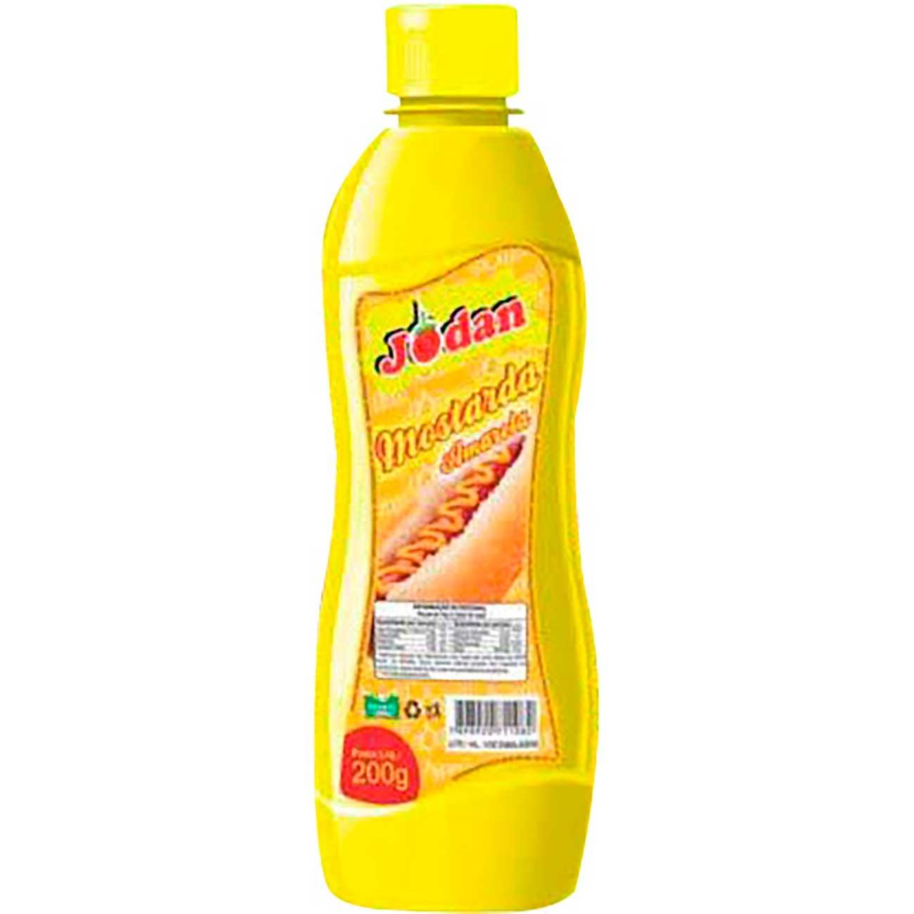 Mostarda Jodan Pet 200g | Caixa com 12 unidades