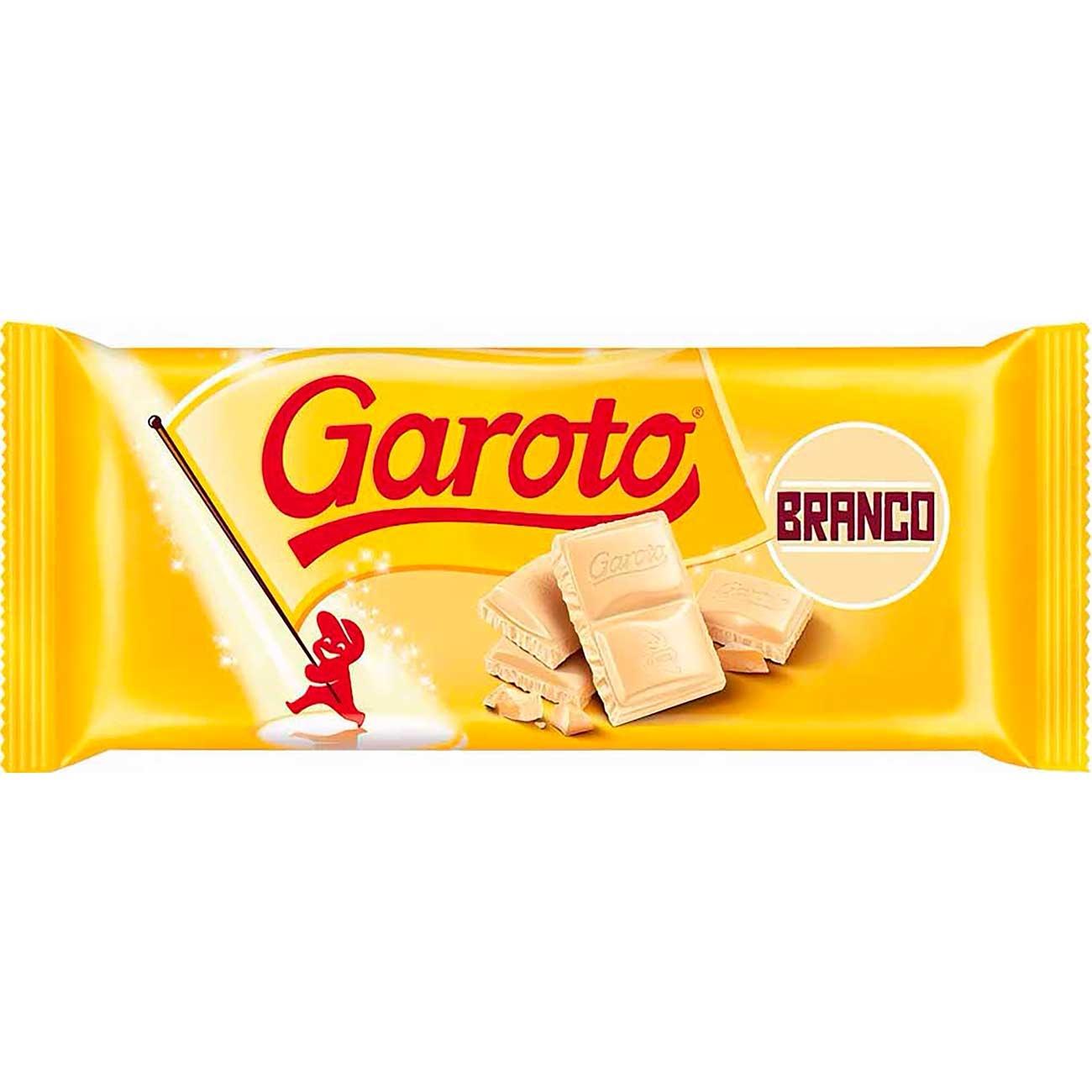 Chocolate Branco Tablete Garoto 100g | Caixa com 14 unidades