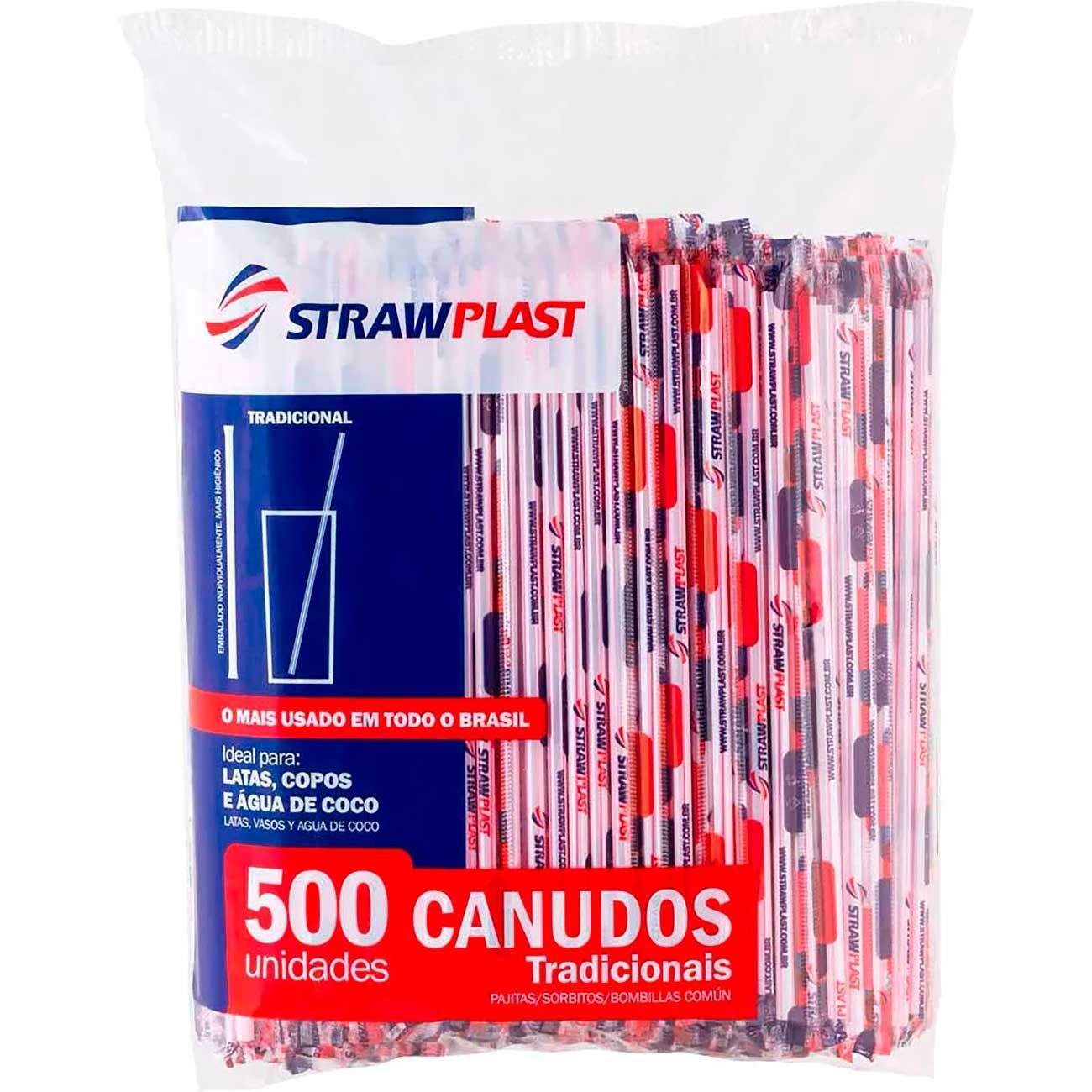 Canudo Strawplast Sach� Tradicional 5Mm - Cs-300 | Caixa com 3000 unidades