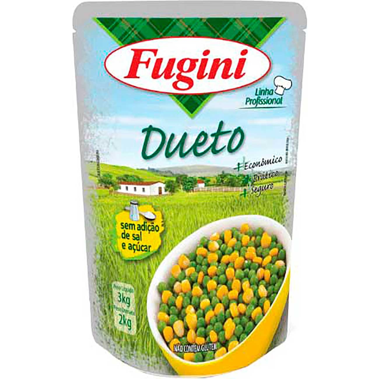 Dueto Fugini Ervilha/Milho Sach� 2kg