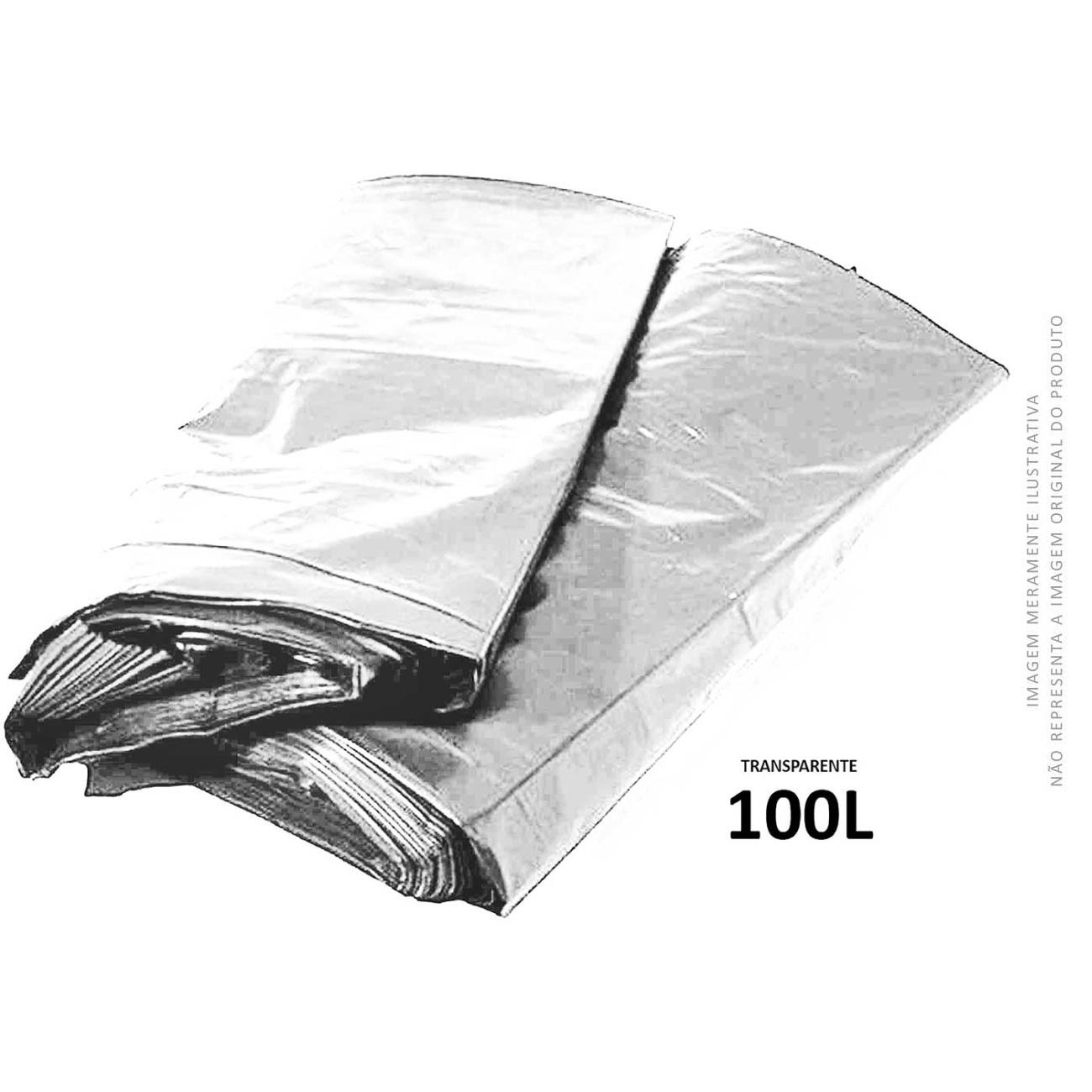 Saco De Lixo Transparente Brasil Embalagens 100L | Caixa com 100 unidades