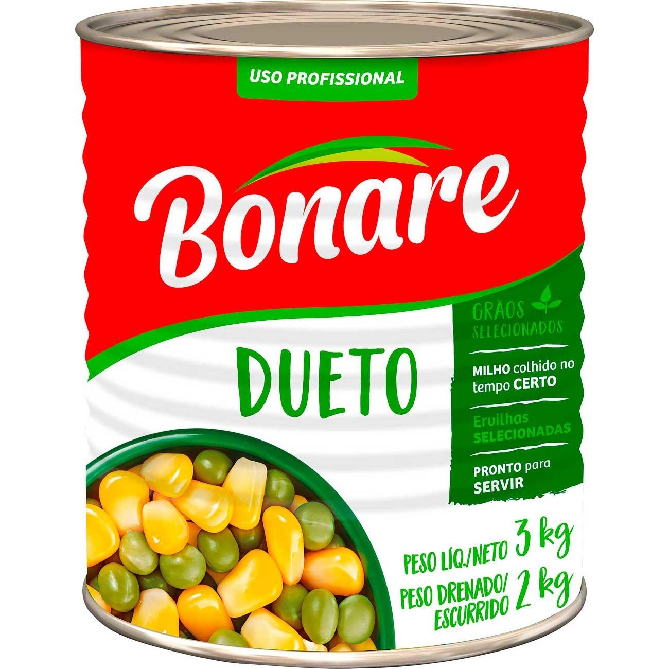 Dueto Bonare Ervilha/Milho Lata 2kg