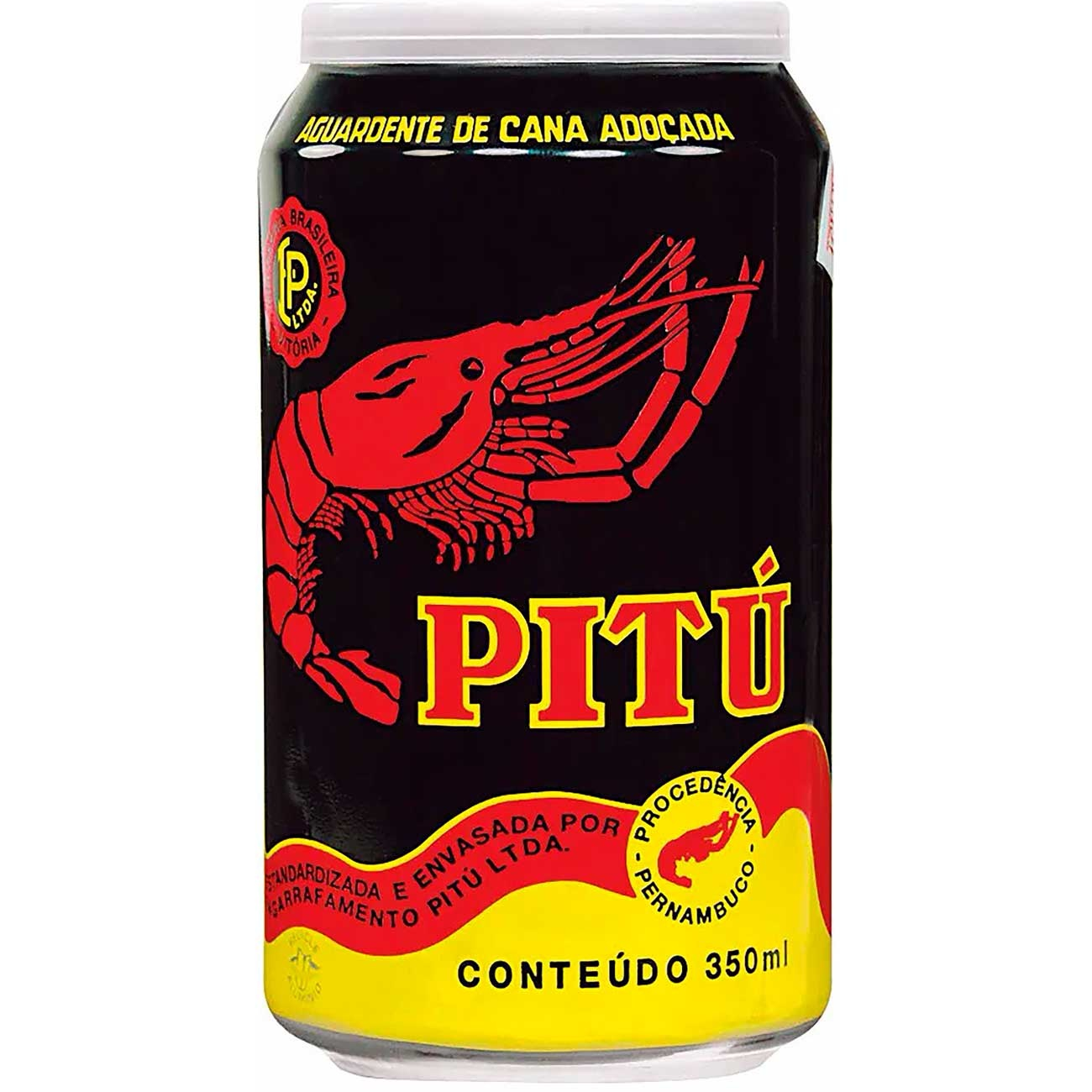 Aguardente Pitu Lata 350ml | Caixa com 12 unidades
