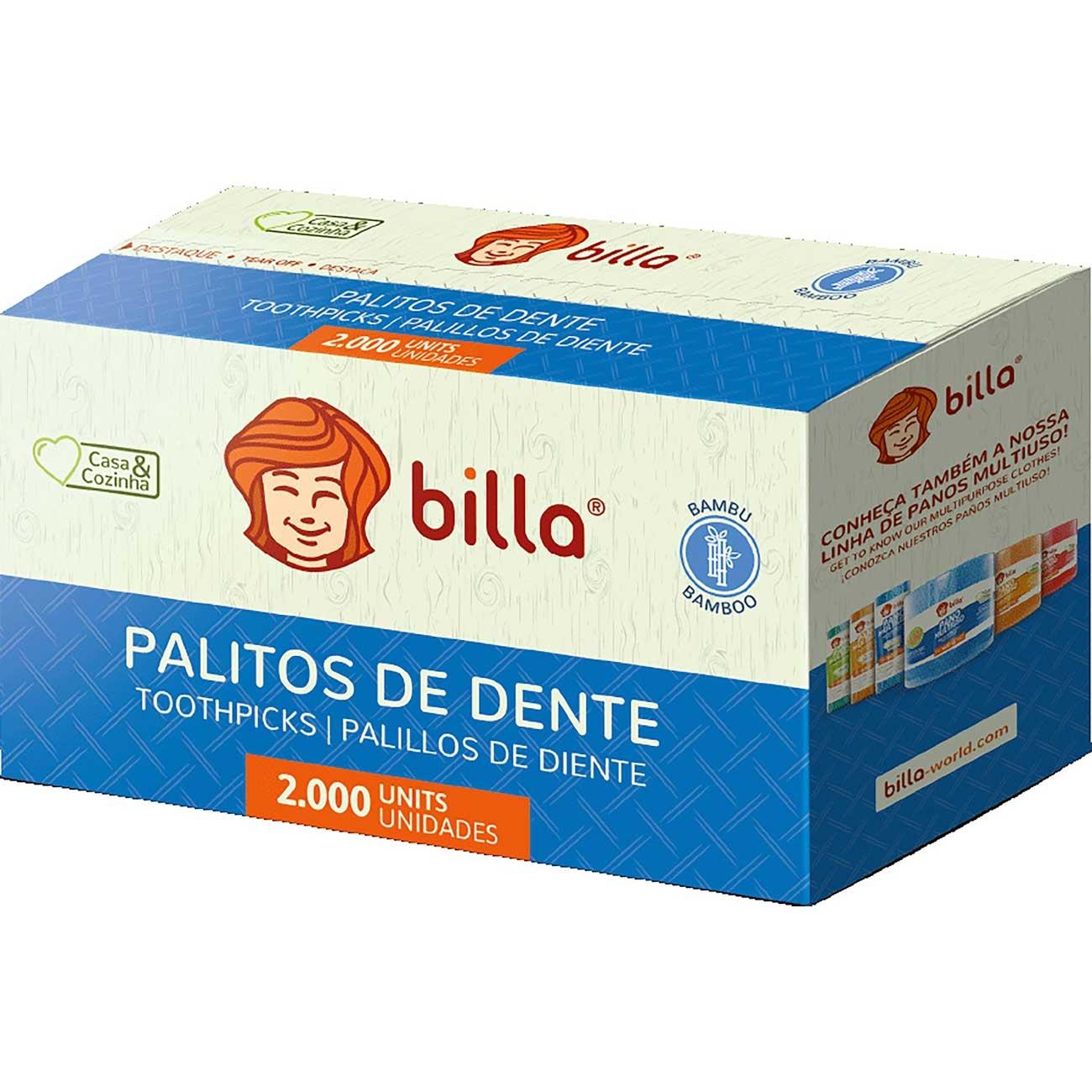 Palito de Dente Billa Sach� | Com 2000 Unidades