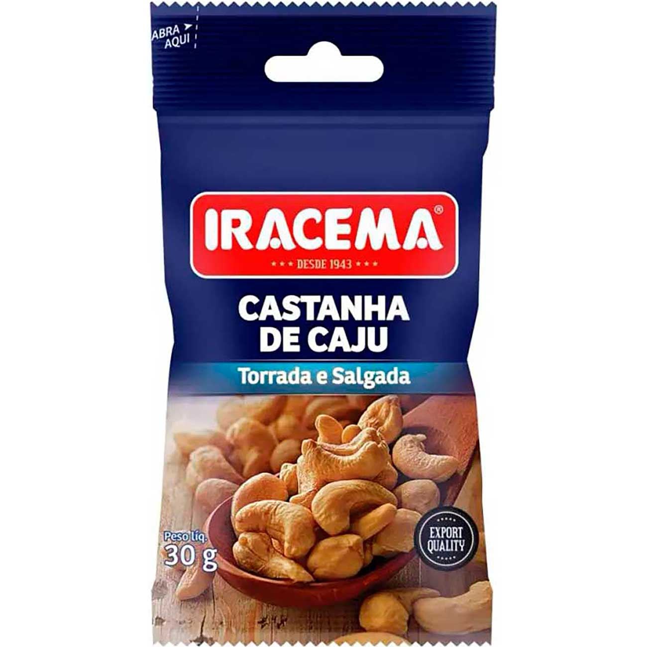 Castanha De Caju Iracema Sach� 30g   Caixa com 12 unidades