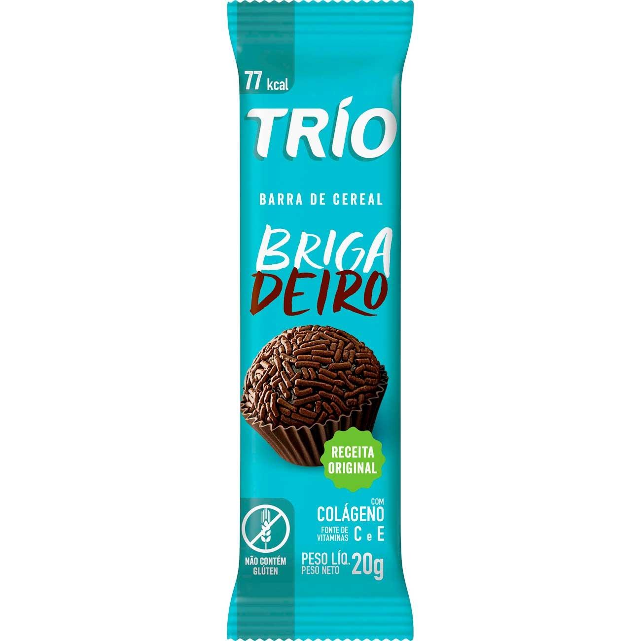 Barra De Cereais Trio Brigadeiro 20g | Caixa com 24 unidades