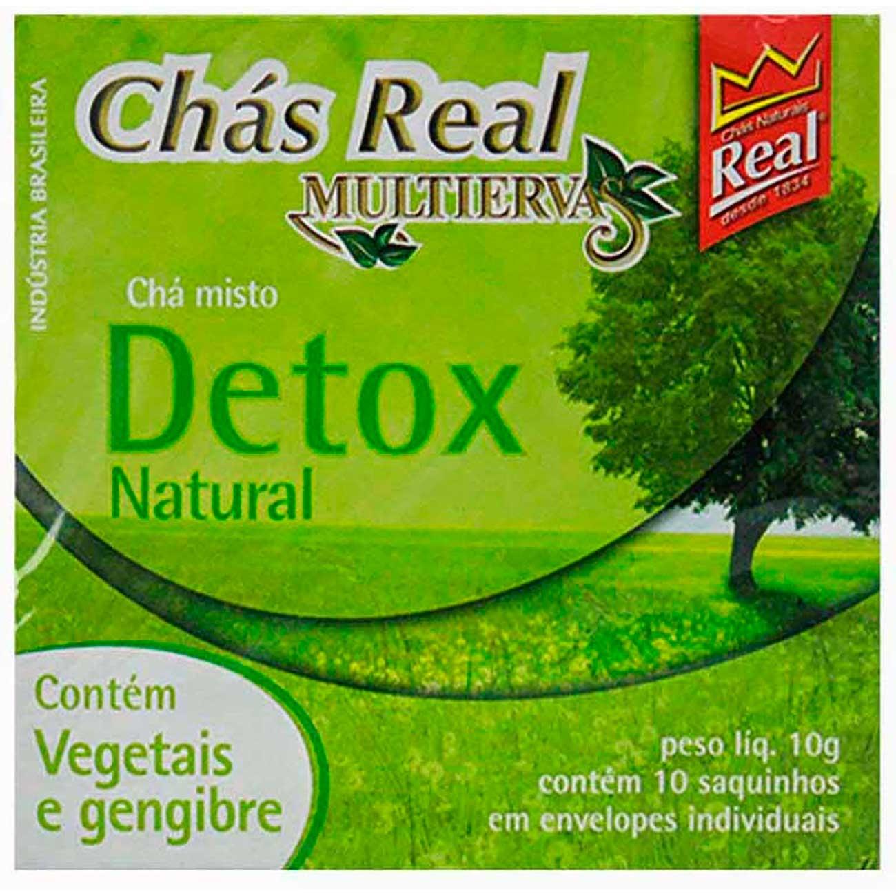 Ch� Real Misto Detox 15g | Caixa com 5 unidades