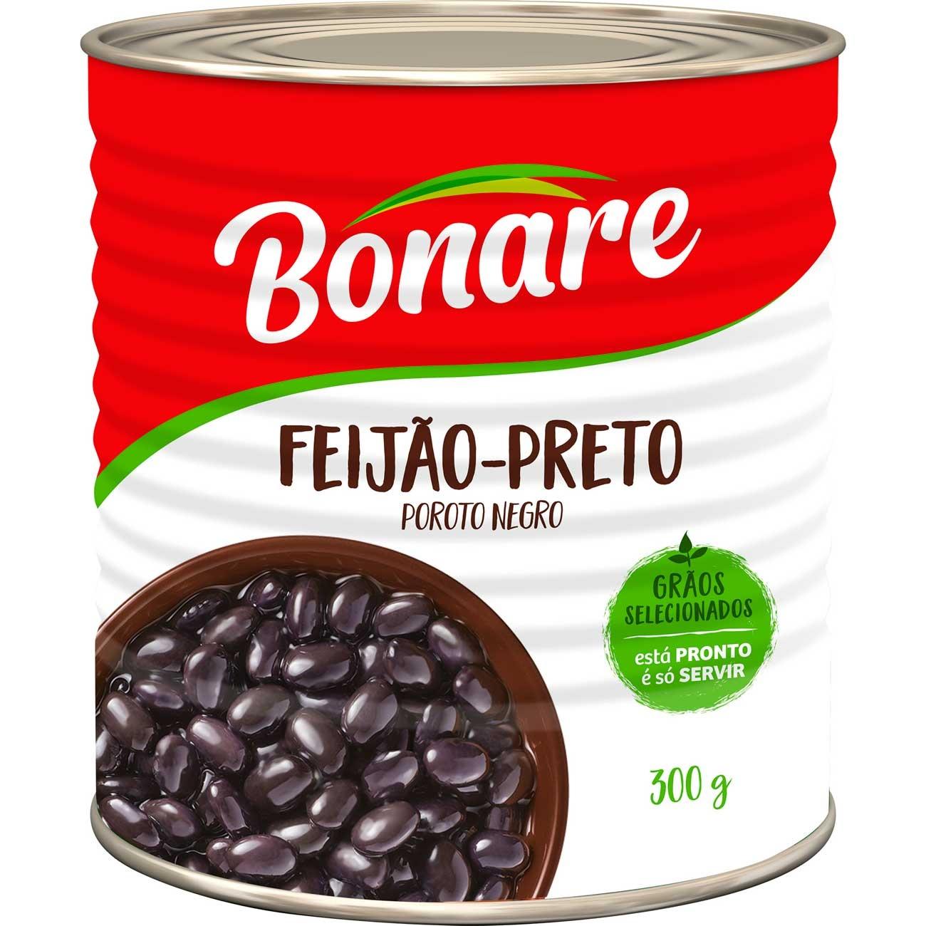 Feij�o Preto Bonare Pronto Lata 300g | Caixa com 24 unidades