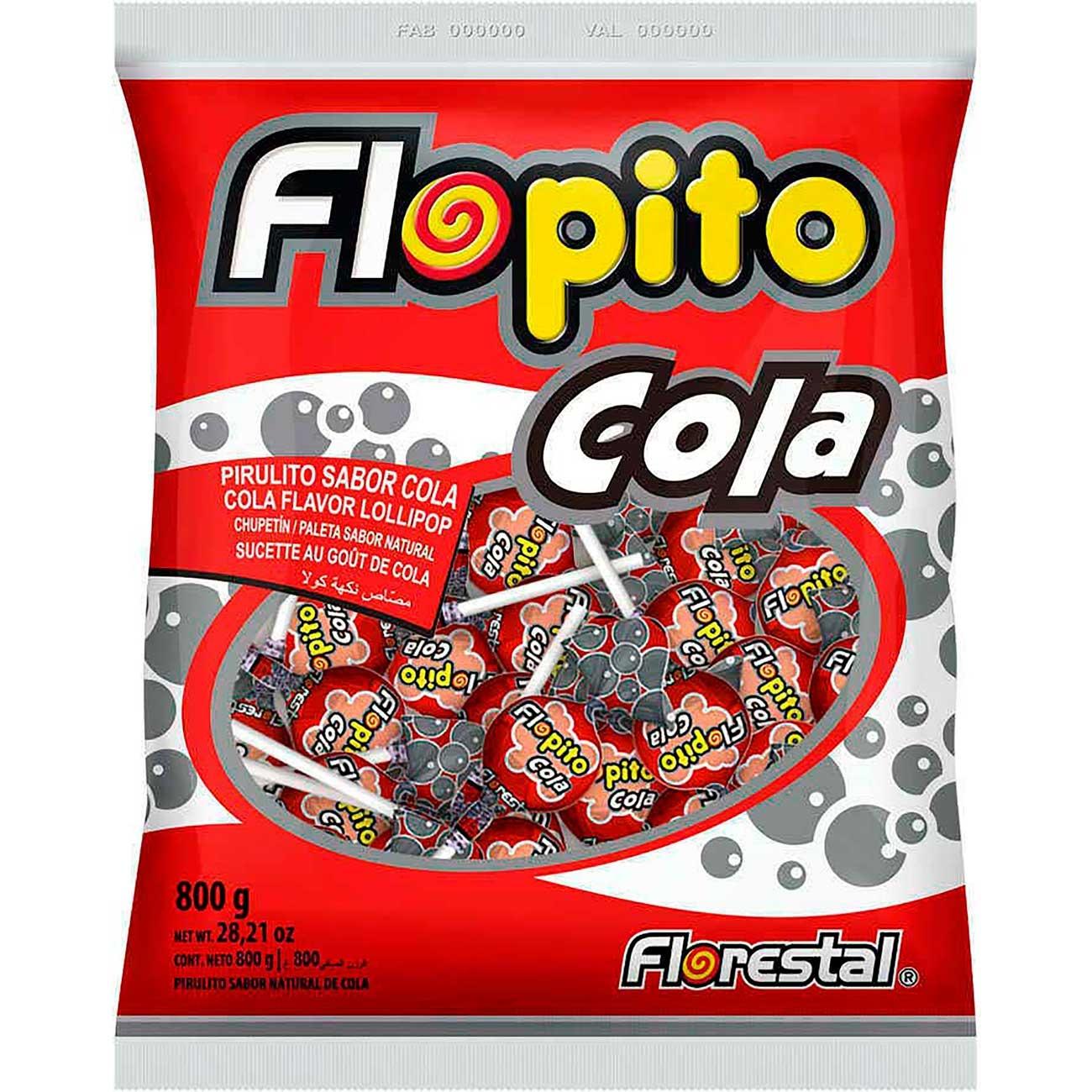 Pirulito Flopito Cola | Caixa com 100 unidades