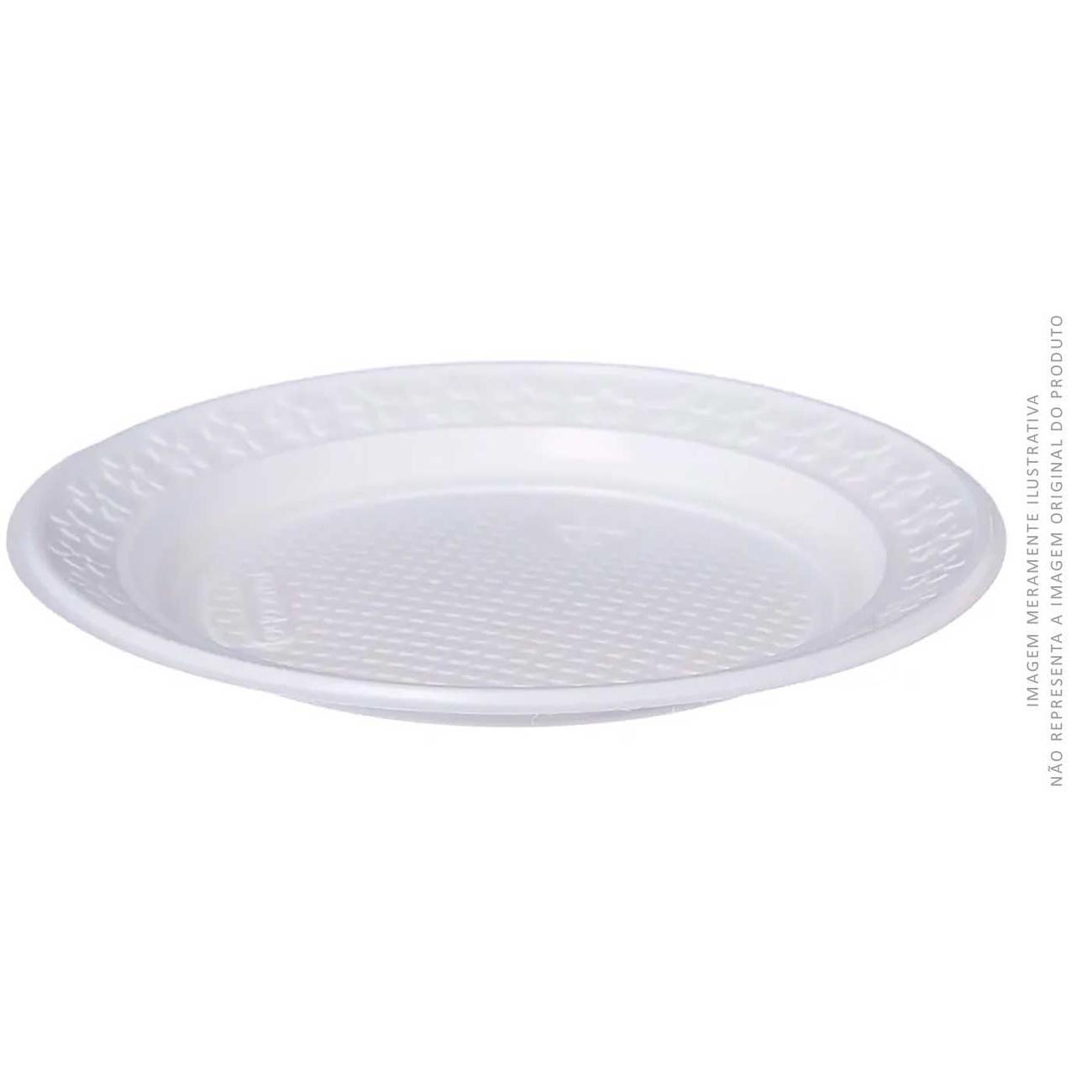Prato Descart�vel Kerocopo Para Sobremesa Raso 15cm Ps | Caixa com 50 unidades