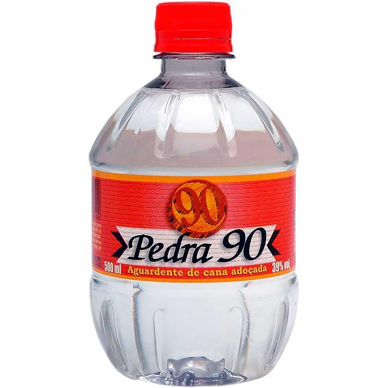Aguardente Pedra 90 Pet 500ml | Caixa com 12 unidades