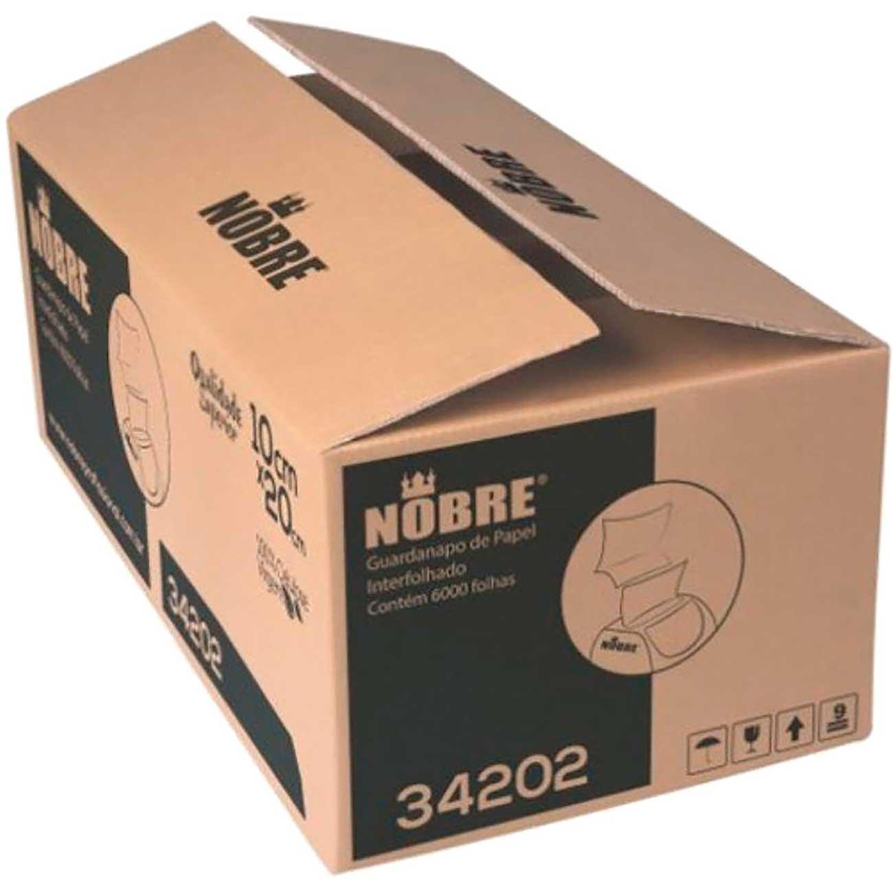 Guardanapo Interfolhado Nobre 10X20cm C/6.000Fls 100% Celulose    Caixa com 6000 unidades
