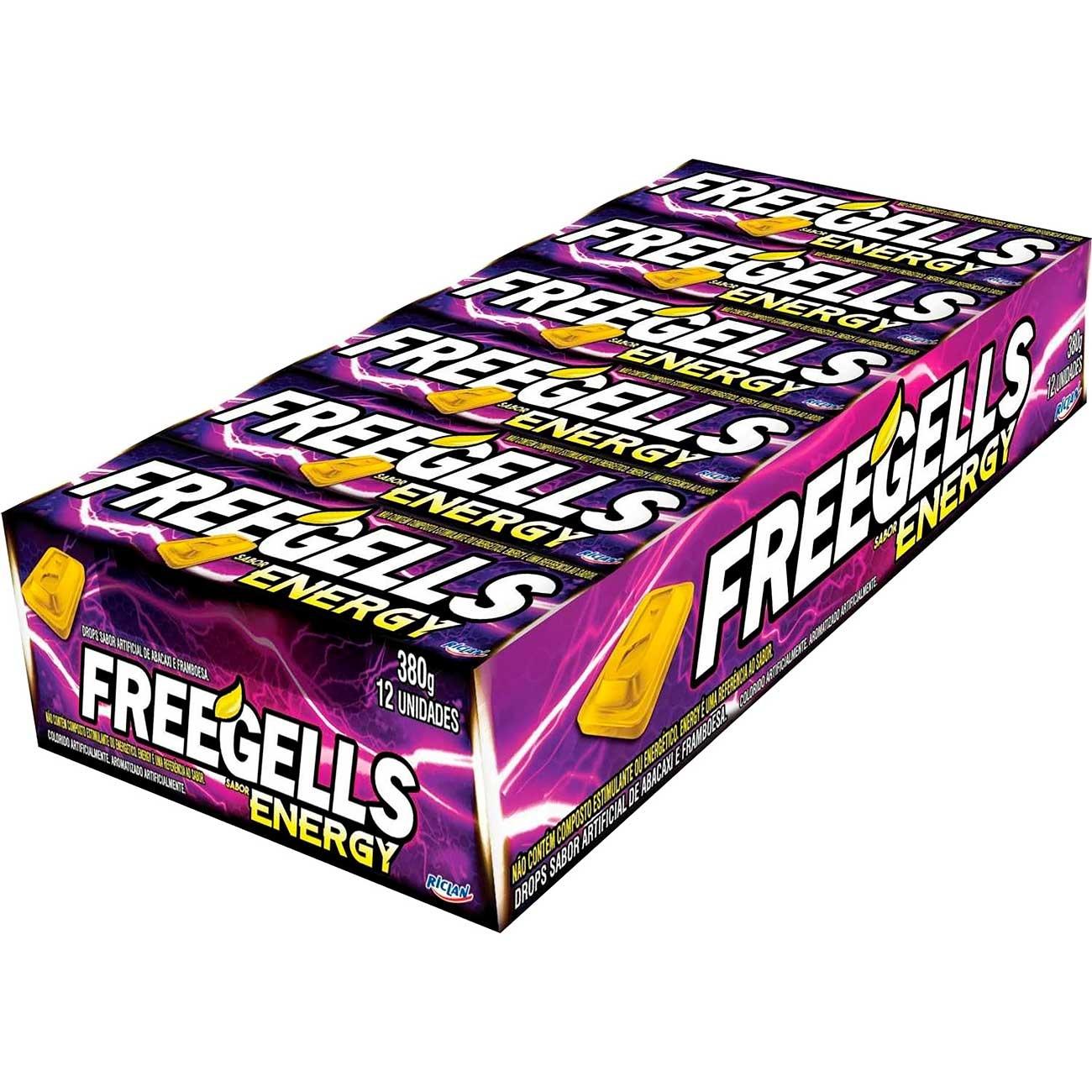 Drops Freegells Energy | Caixa com 12 unidades