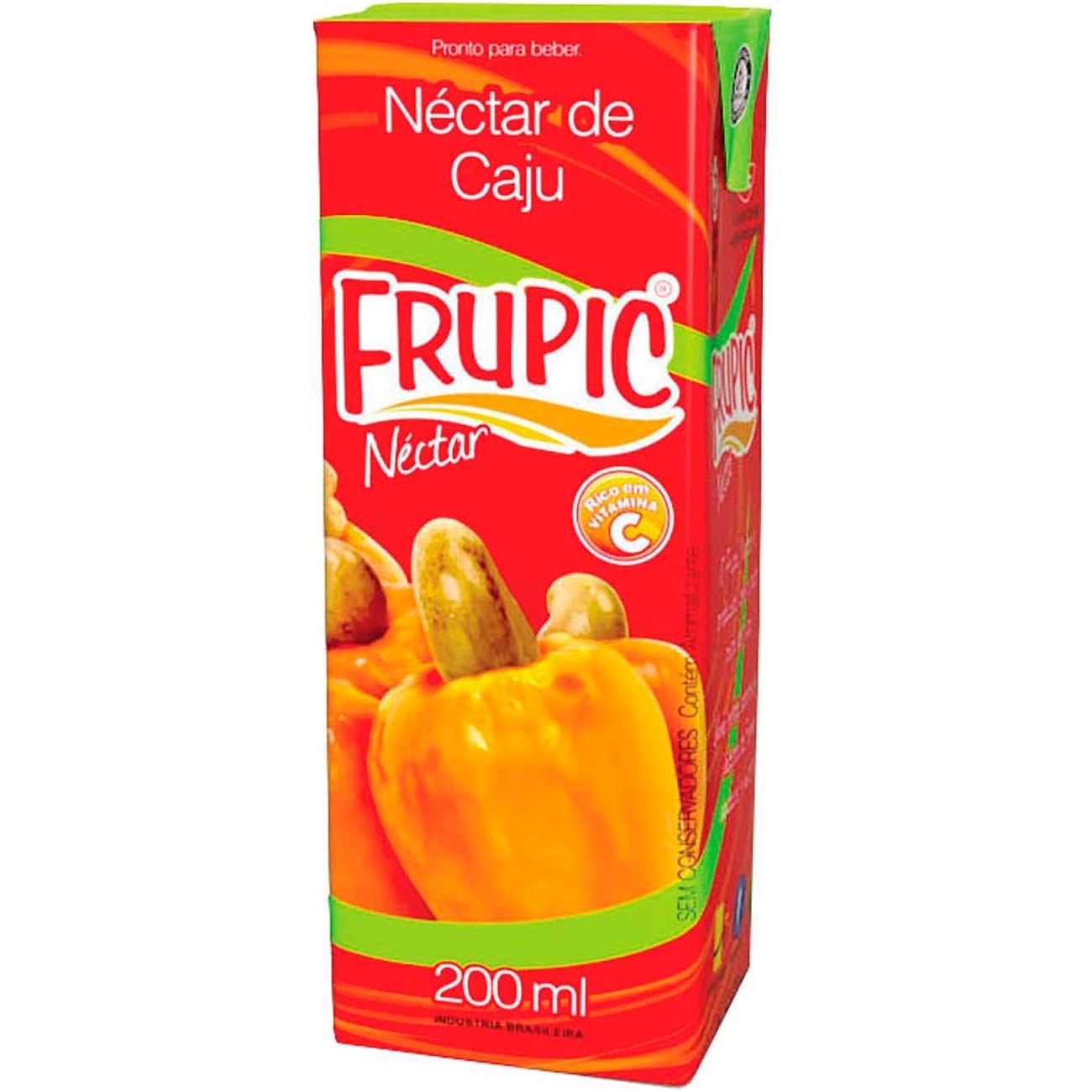 Suco Frupic Caju Tp 200ml   Caixa com 18 unidades