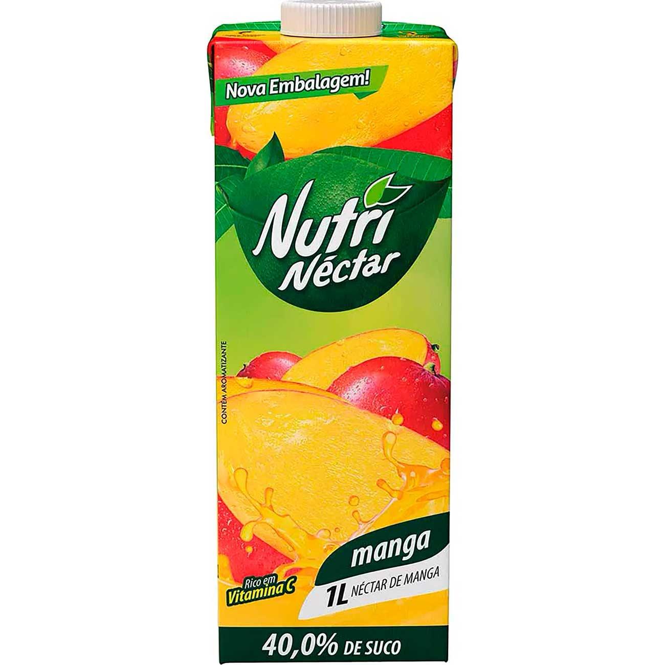 Suco Nutri N�ctar 1L Manga Tp | Caixa com 6 unidades