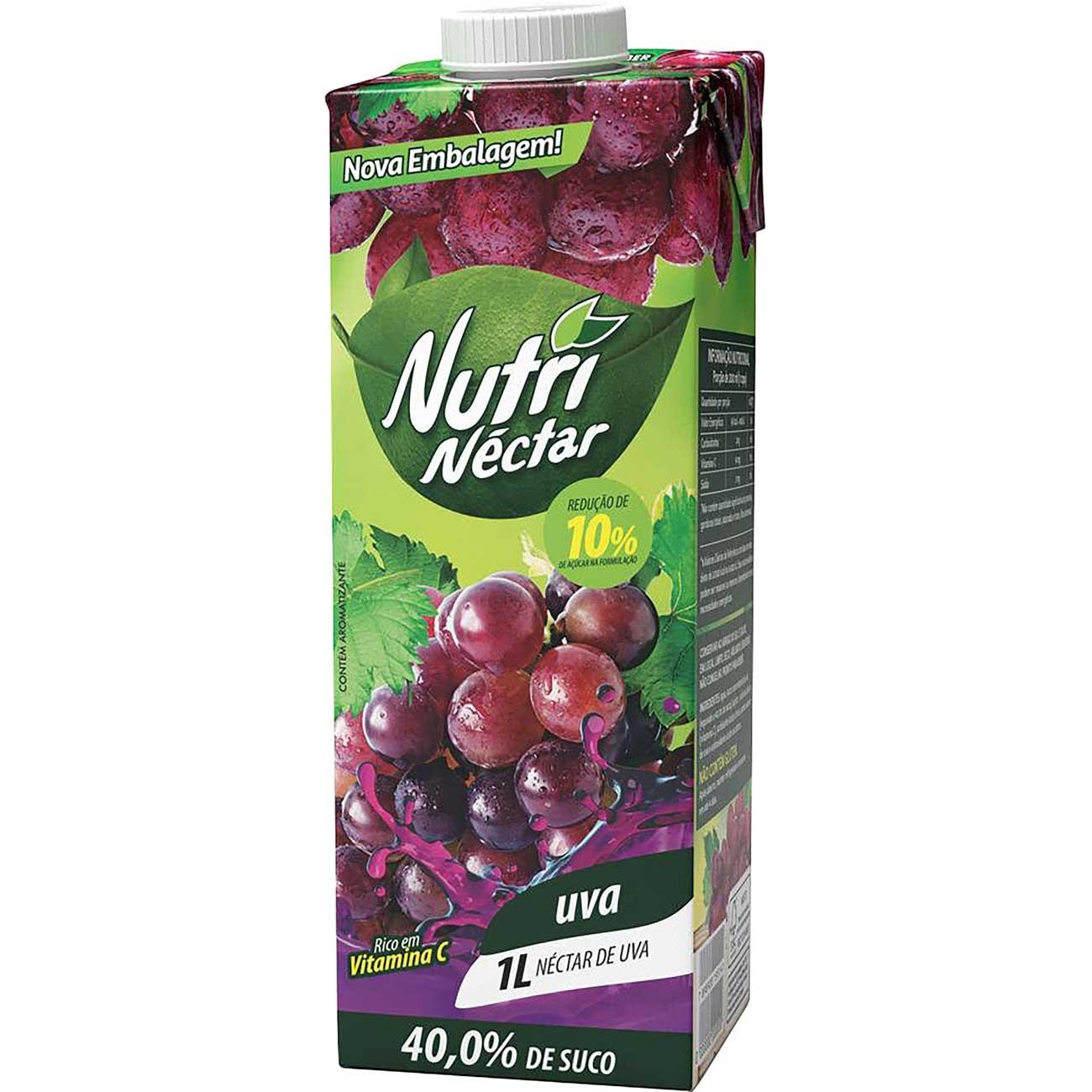 Suco Nutri N�ctar 1L Uva Tp   Caixa com 6 unidades
