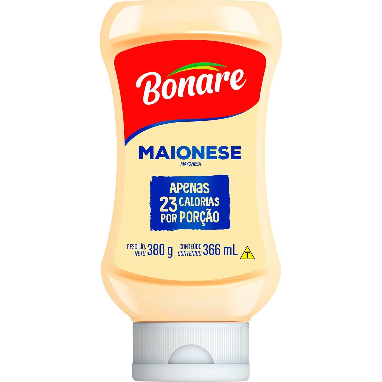 Maionese Bonare Squeeze 380g | Caixa com 12 unidades