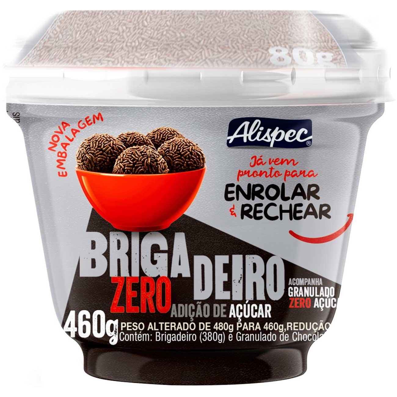 Brigadeiro Alispec Pote Zero A��car 480g
