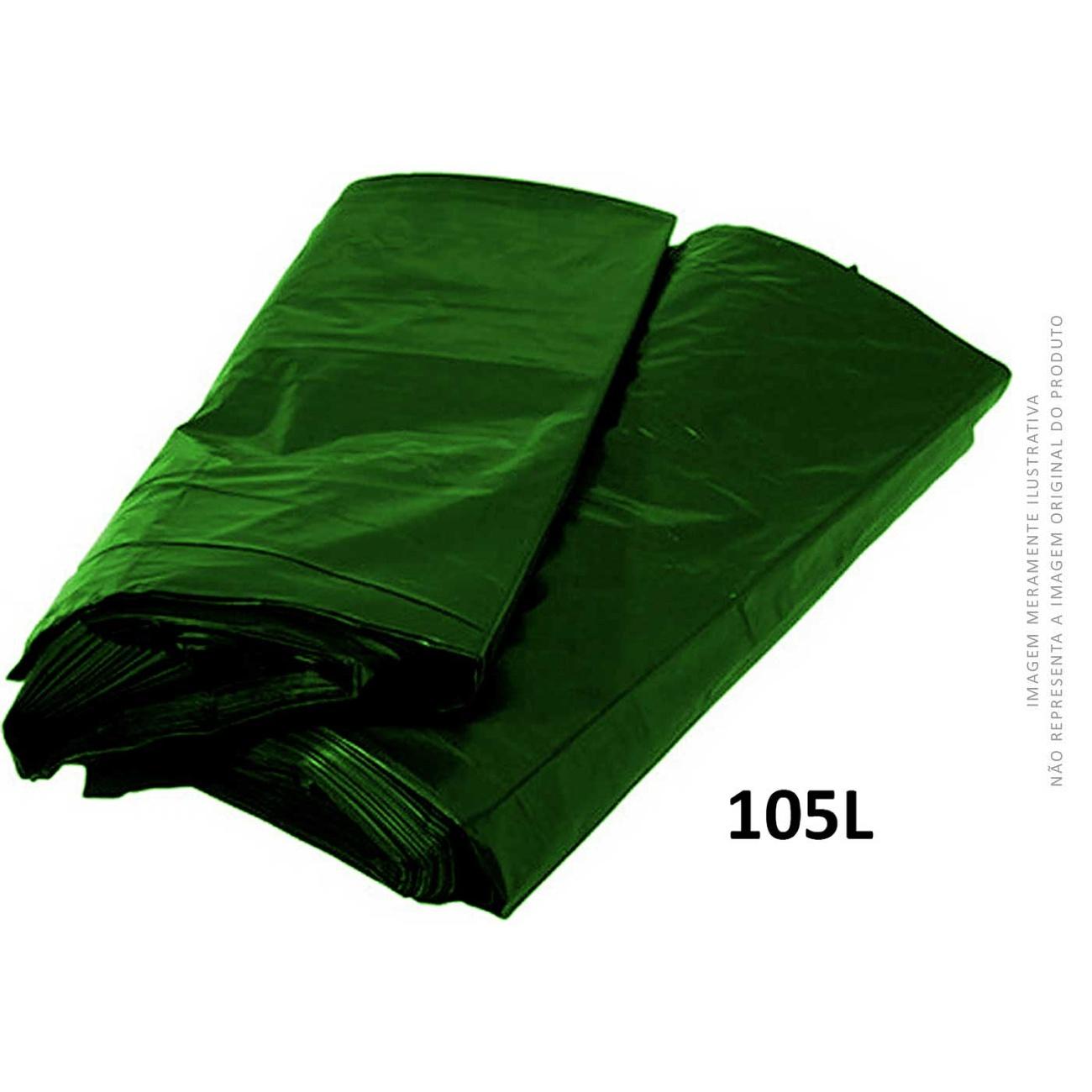 Saco De Lixo Verde Brasil Embalagens 105L   Caixa com 100 unidades