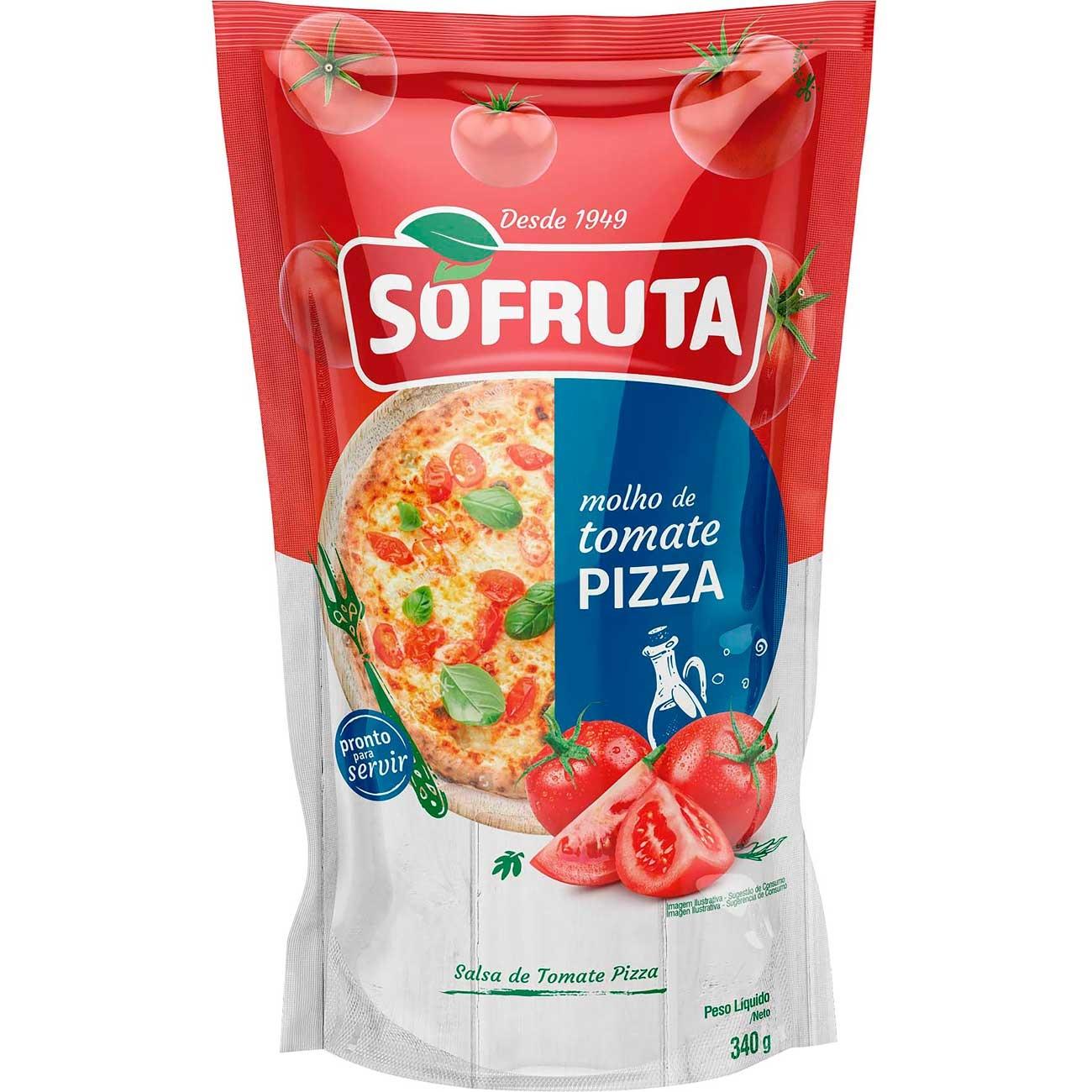 Molho De Tomate Sofruta Pizza Pouch 340g | Caixa com 24 unidades