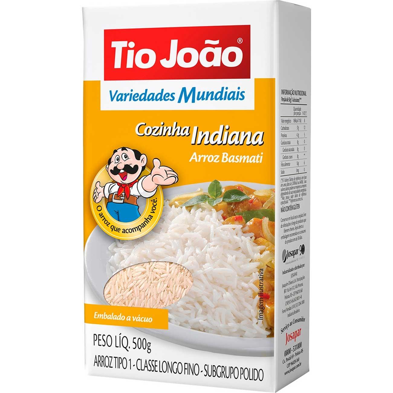 Arroz Tio João Basmati Tipo 1 500g - Cozinha Indiana
