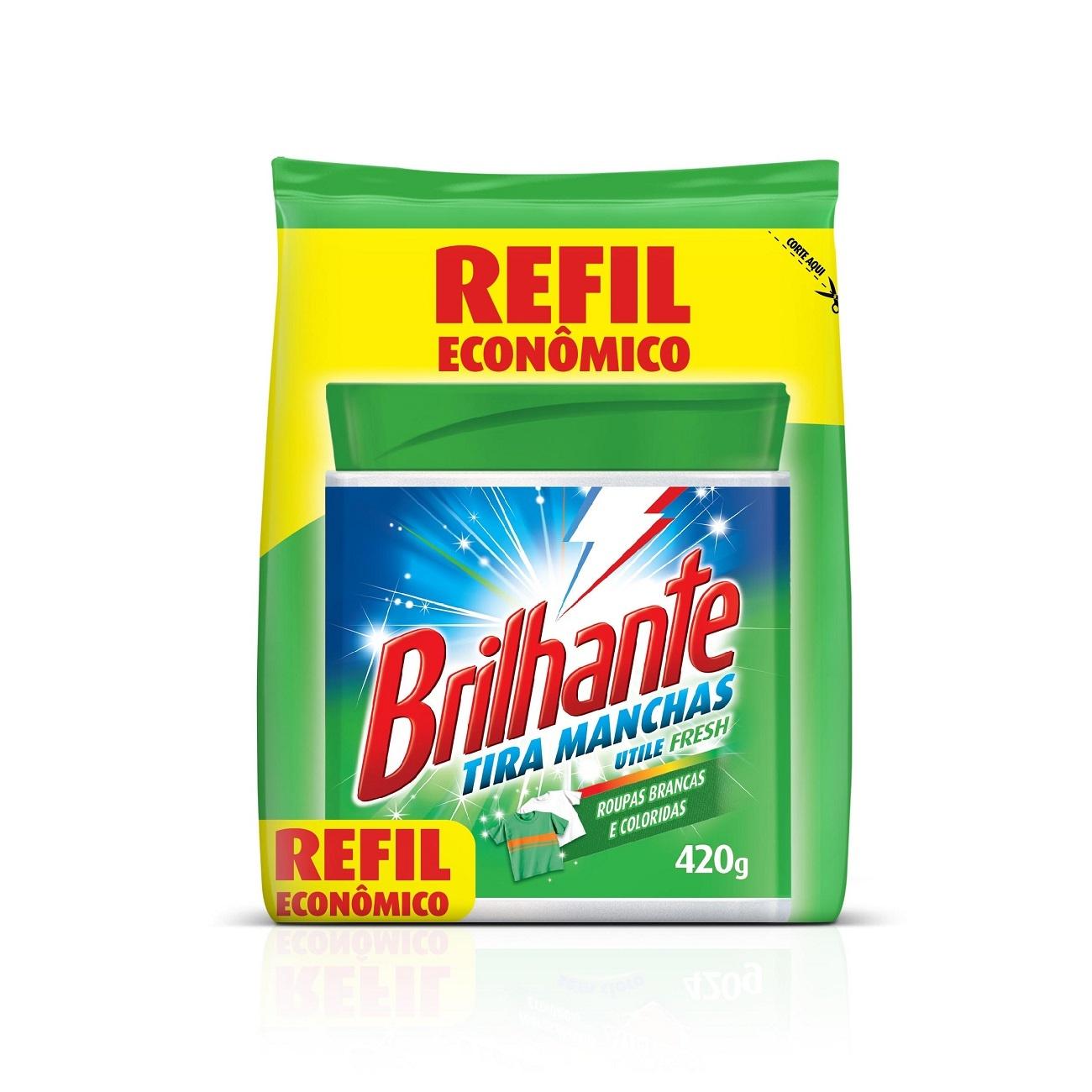 Refil Alvejante Brilhante Utile Tira Manchas Fresh 420g