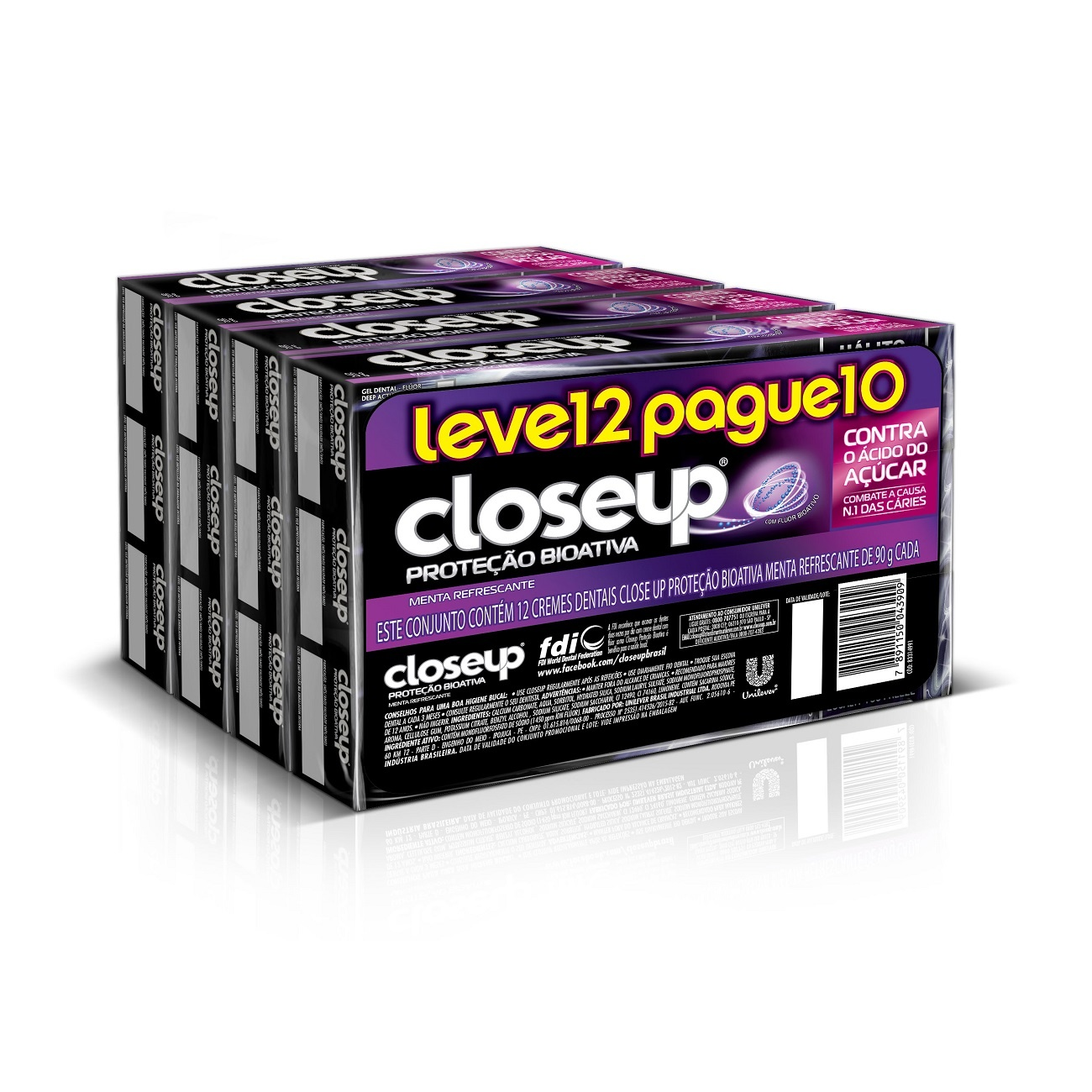 Oferta Leve 12 Pague 10 Creme Dental Close Up Prote��o Bioativa 90g