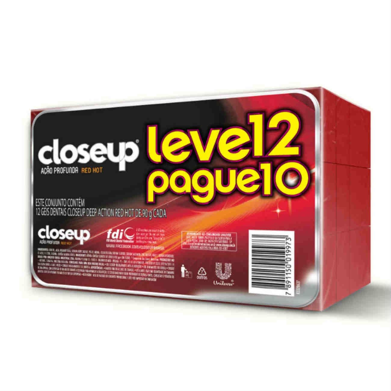 Oferta Gel Dental Close Up Red Hot Pague 10 Leve 12 90g
