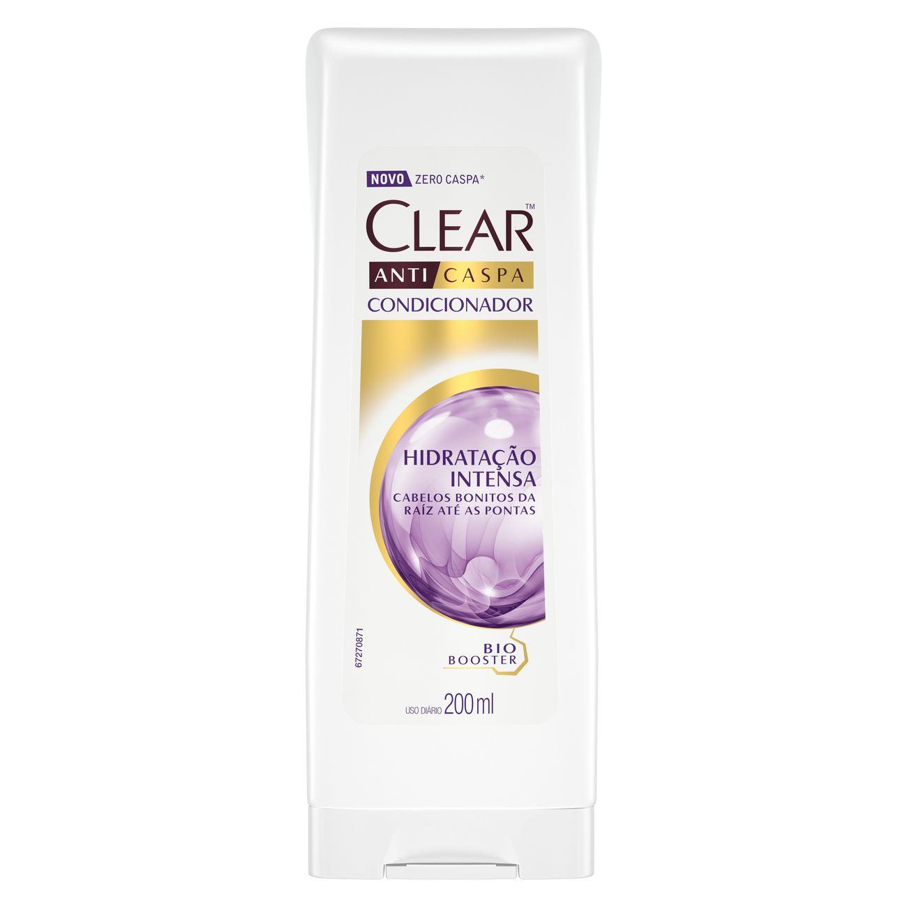 Condicionador Anticaspa CLEAR Women Hidratação Intensa 200ml | Caixa com 1
