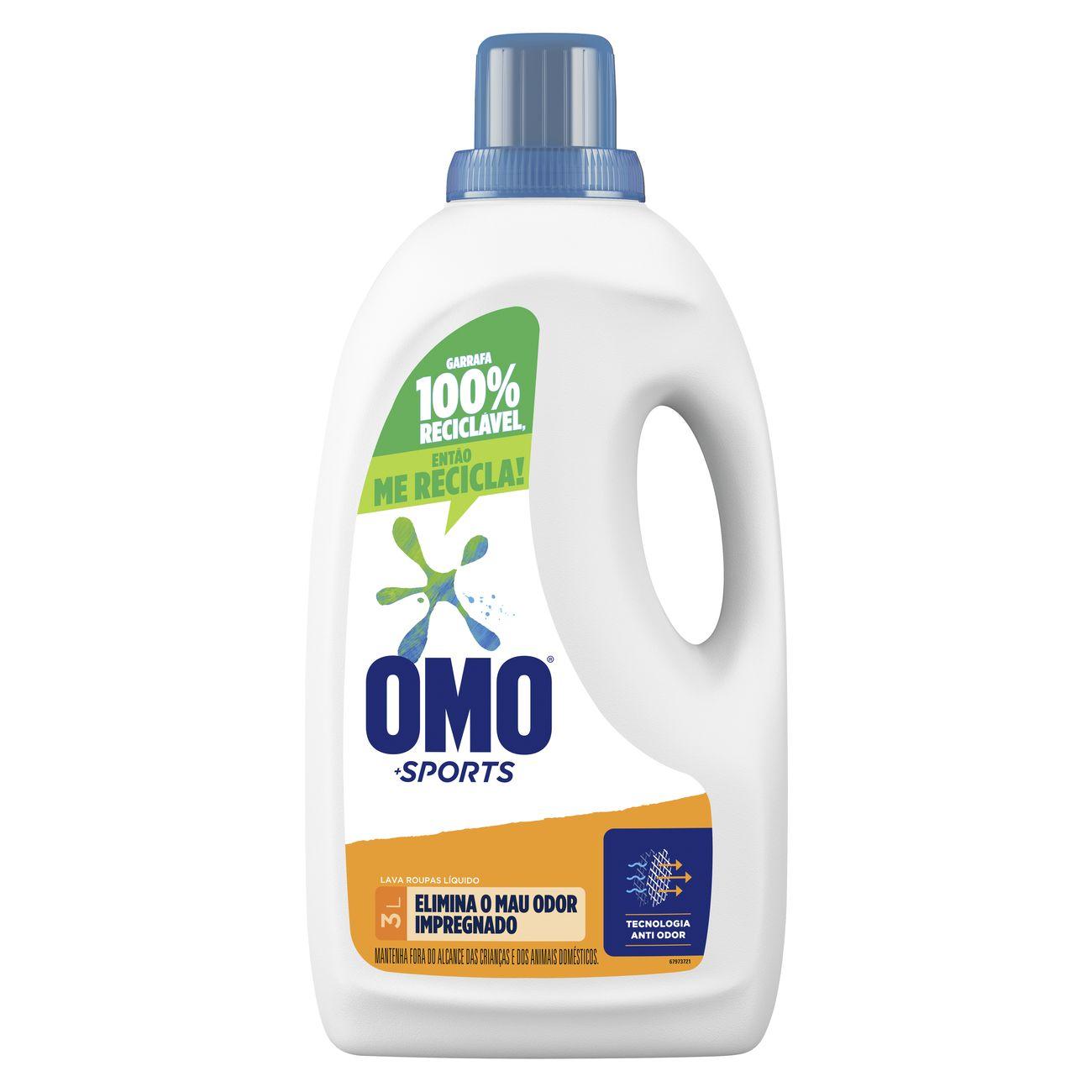 Detergente Líquido Omo Sports 3L