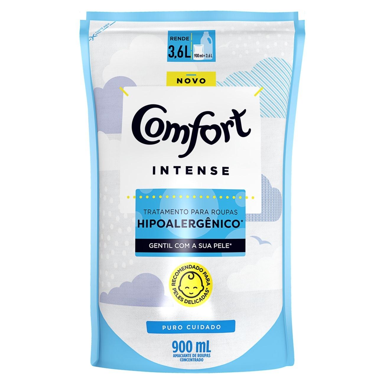 Refil Amaciante Concentrado Comfort Puro Cuidado 900ml