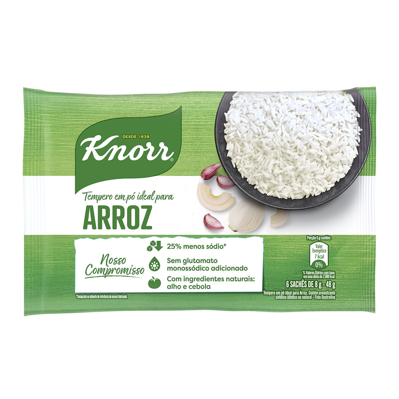 Tempero em Pó Knorr Ideal para Arroz 48g