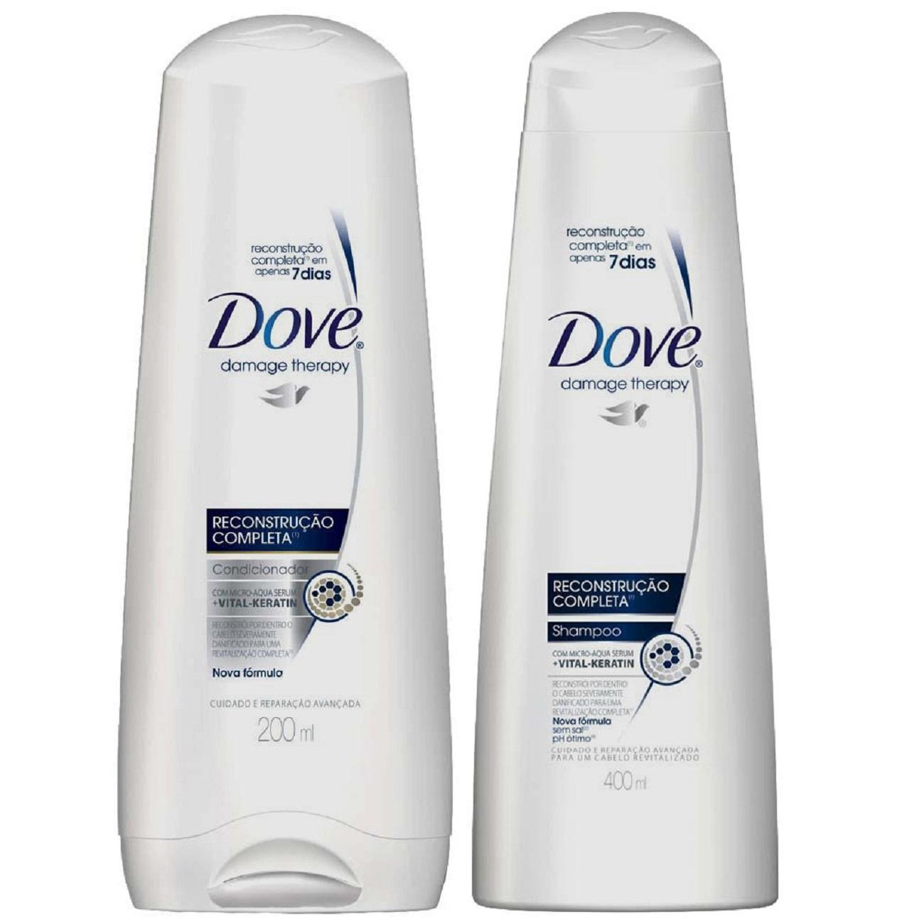 Oferta Shampoo Dove Reconstrução Completa 400ml + Condicionador Dove Reconstrução Completa 200ml