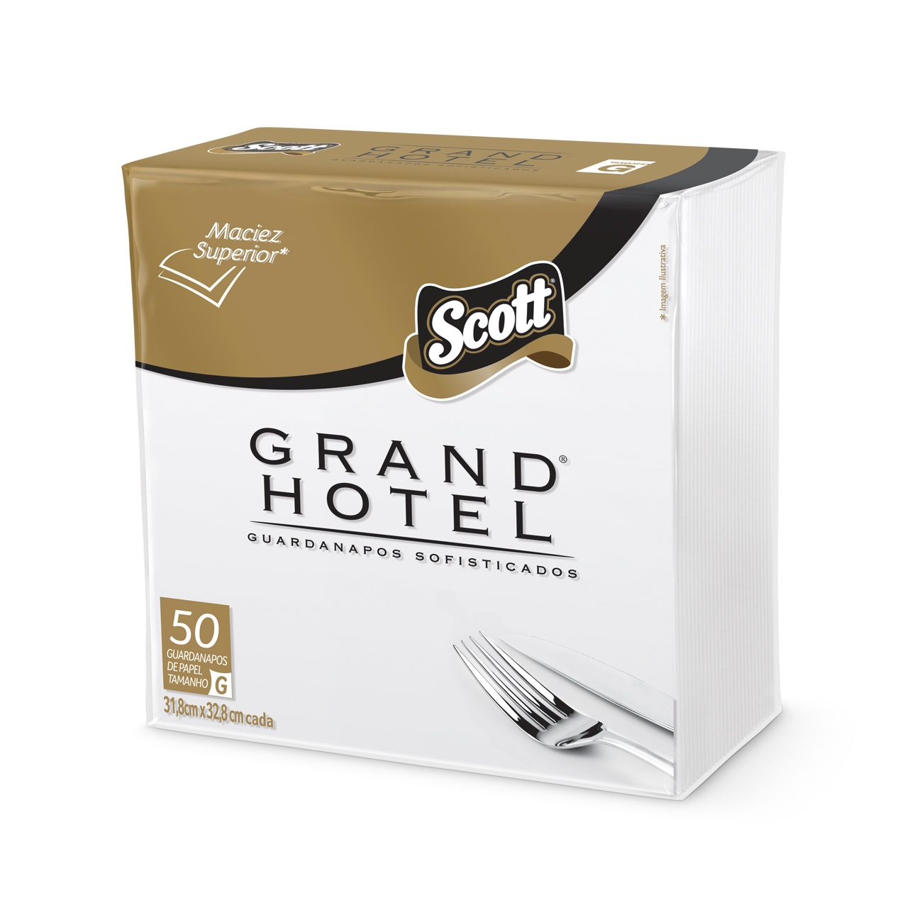 Guardanapo Scott Grand Hotel Coquetel 24x24cm 50un