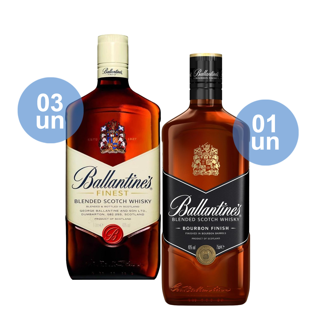 Compre 03 Ballantine's Finest 1L e ganhe 01 Ballantine's Bourbon
