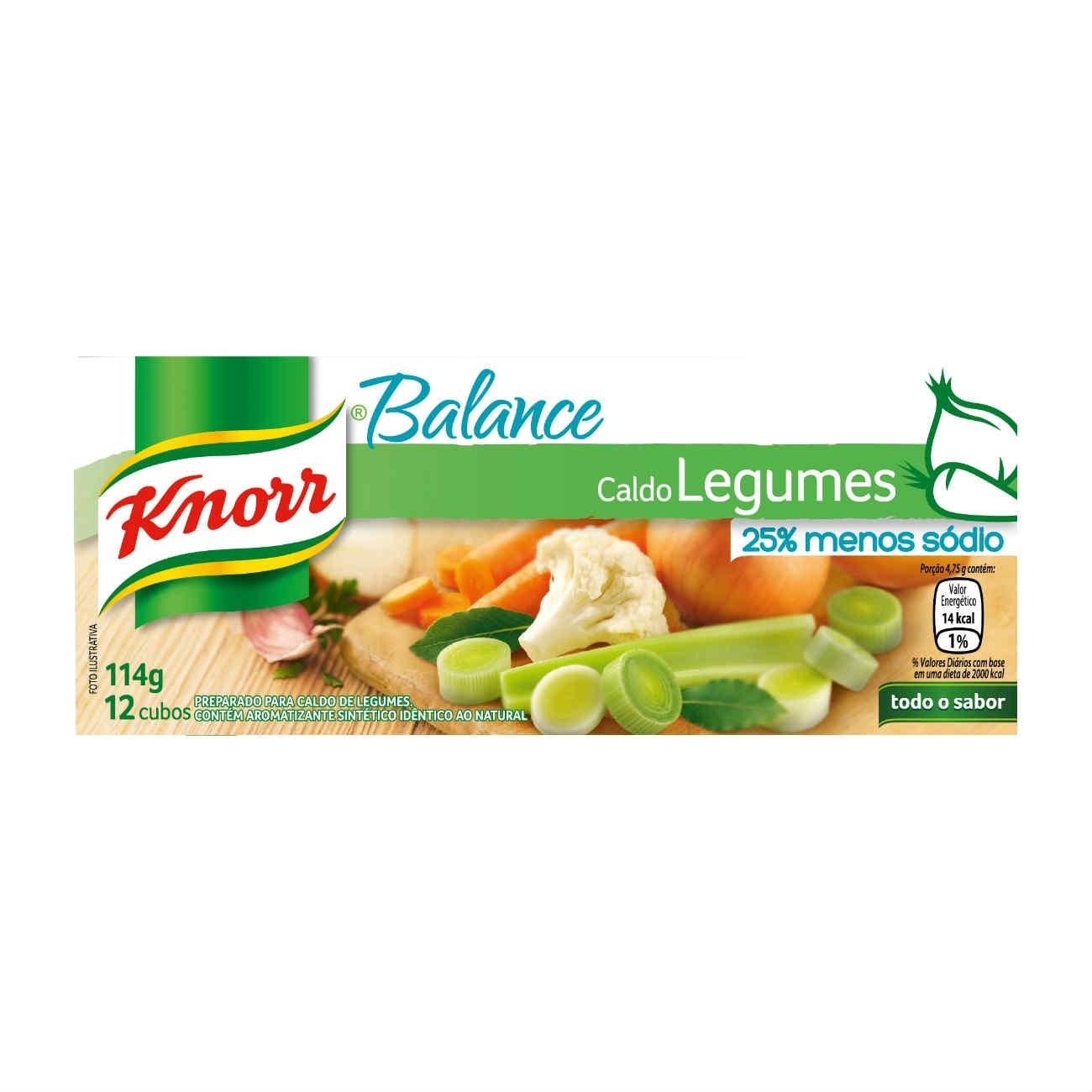 Caldo Knorr Balance Legumes 12 cubos