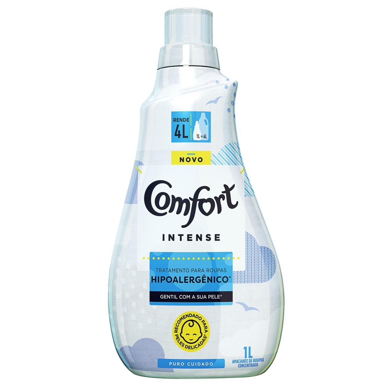 Amaciante Concentrado Comfort Puro Cuidado 1L | Caixa com 1
