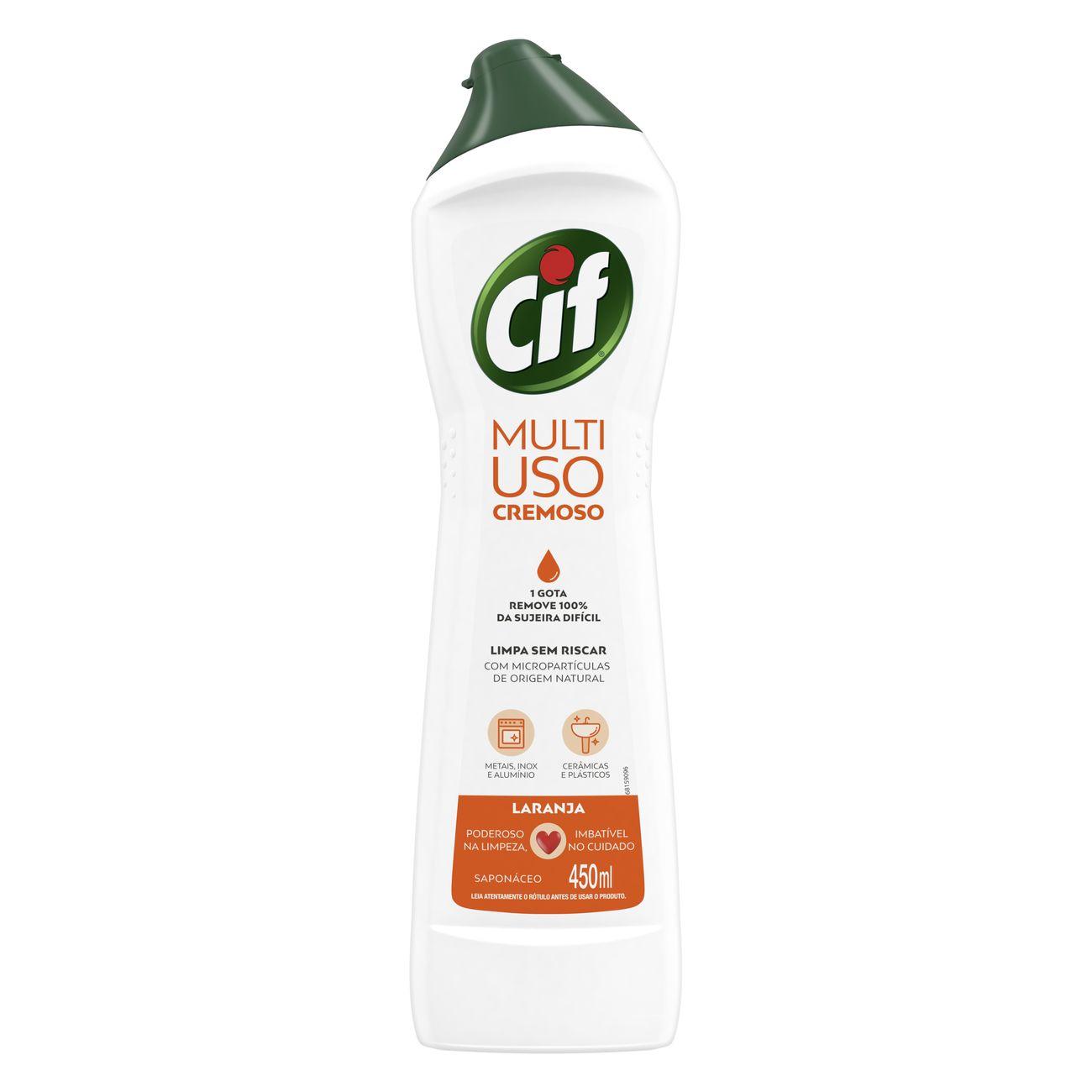 Limpador CIF Cremoso Laranja 450ml | Caixa com 1