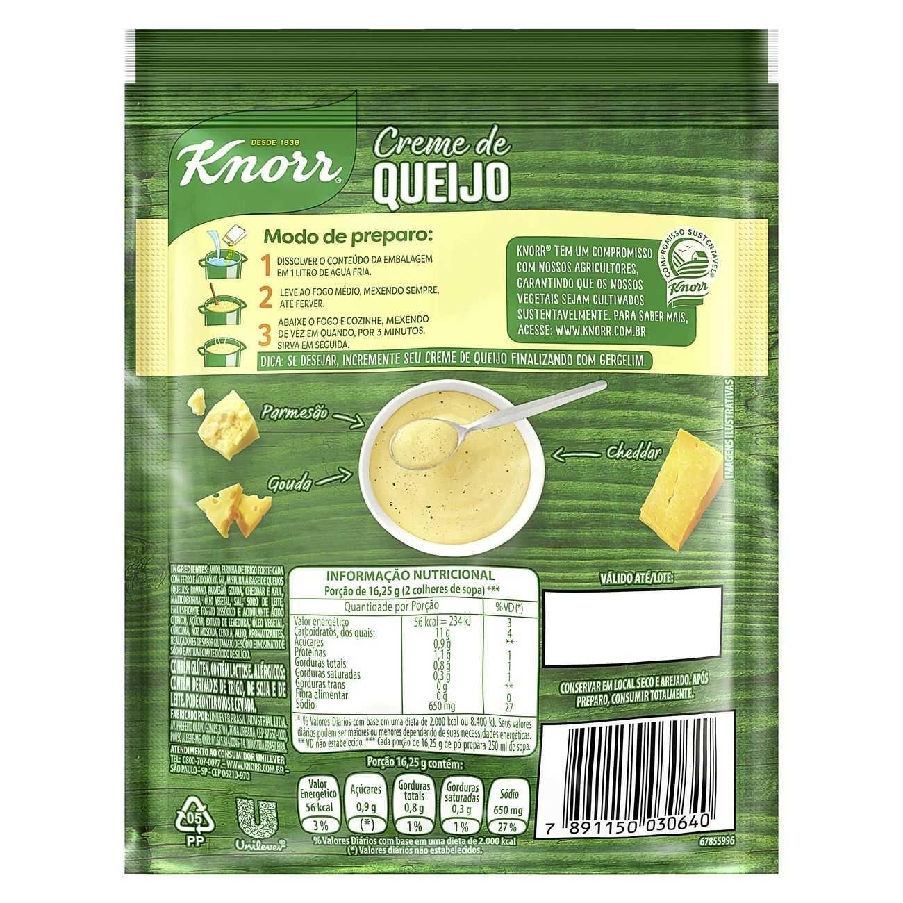 Sopa Knorr Creme Queijo 65g