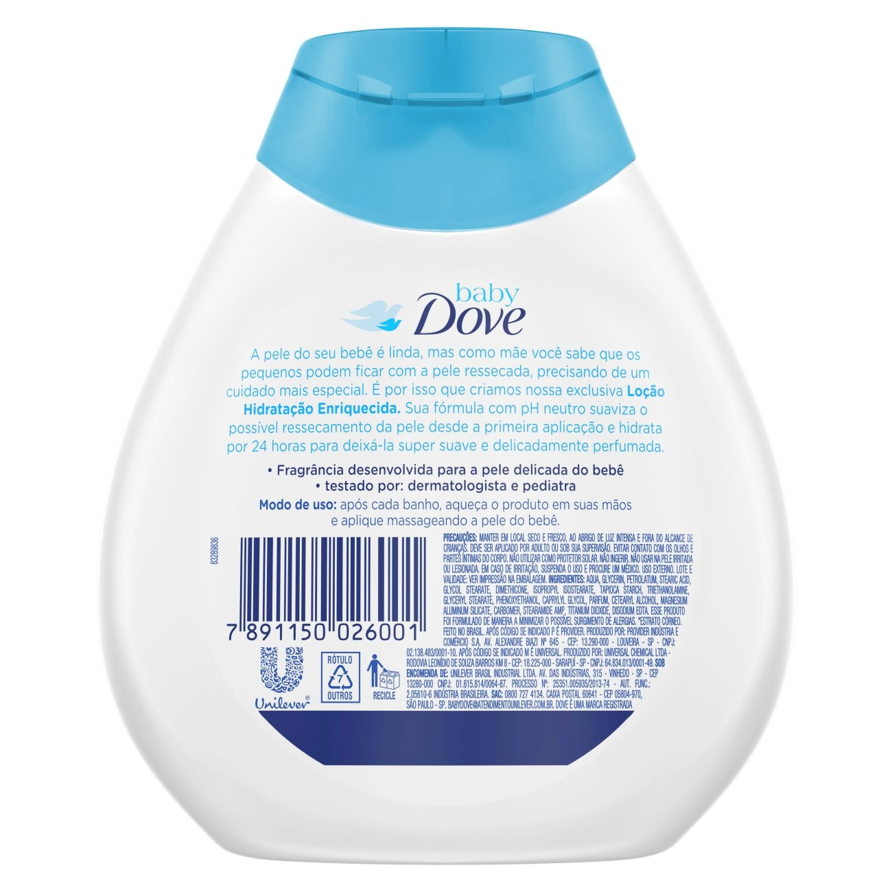 Loção Hidratante Baby Dove Hidratação Enriquecida 200 ML