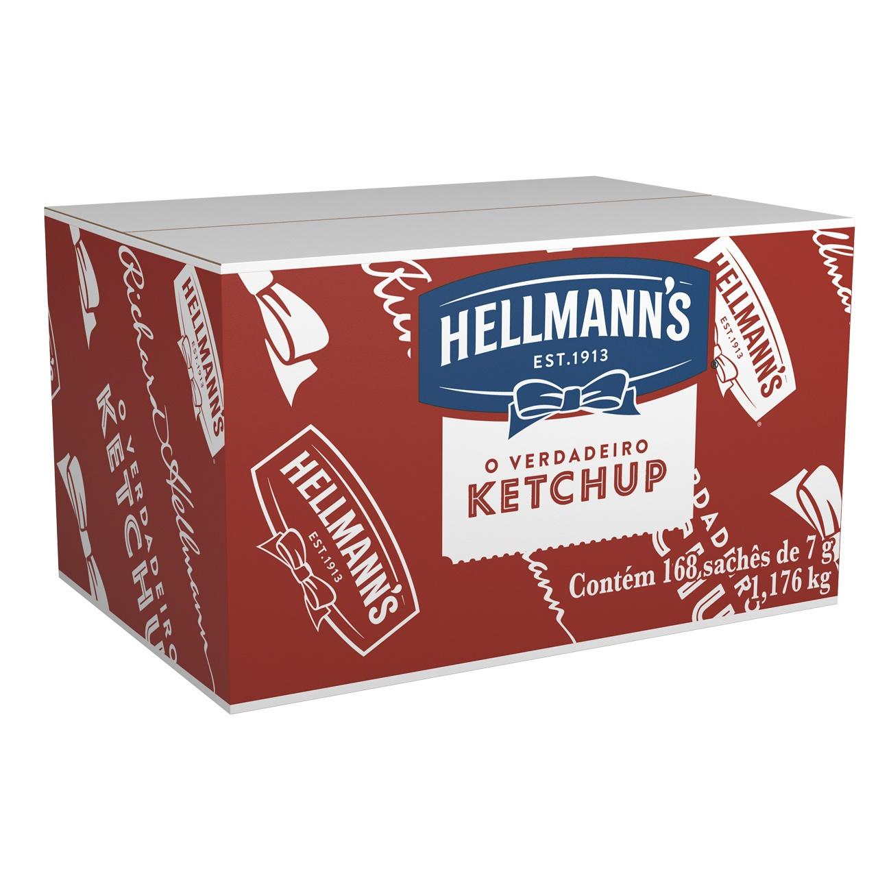 Ketchup Hellmann's Sach� 168 x 7g