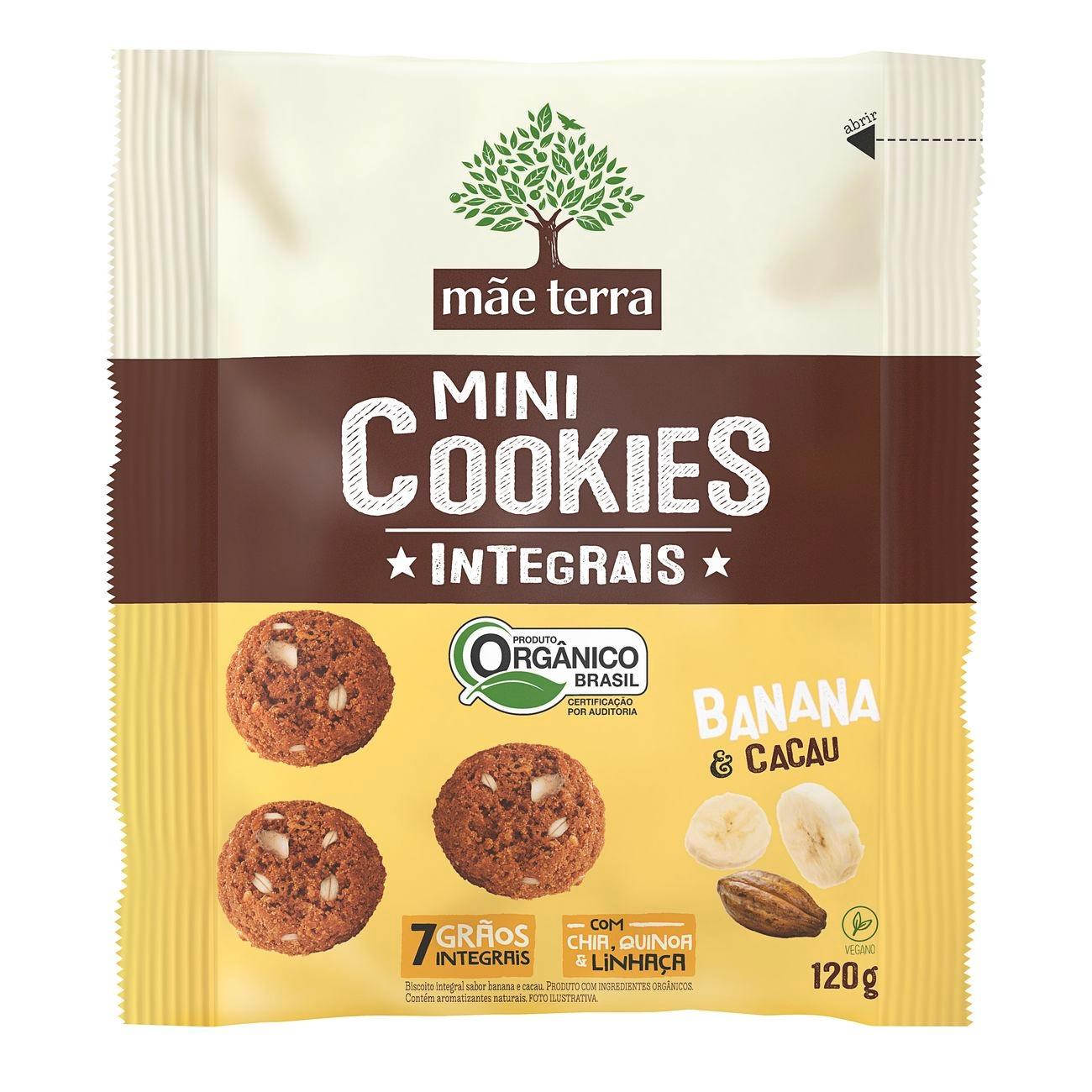 Cookie Integral Orgânico Banana e Cacau 120g