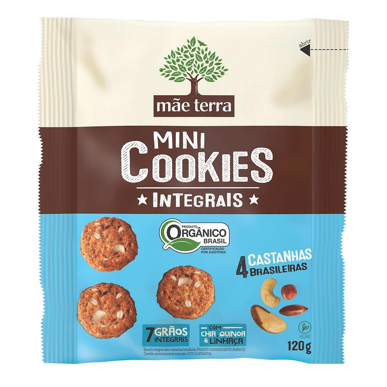 Cookie Integral Orgânico Mãe Terra 4 Castanhas Brasileiras 120g